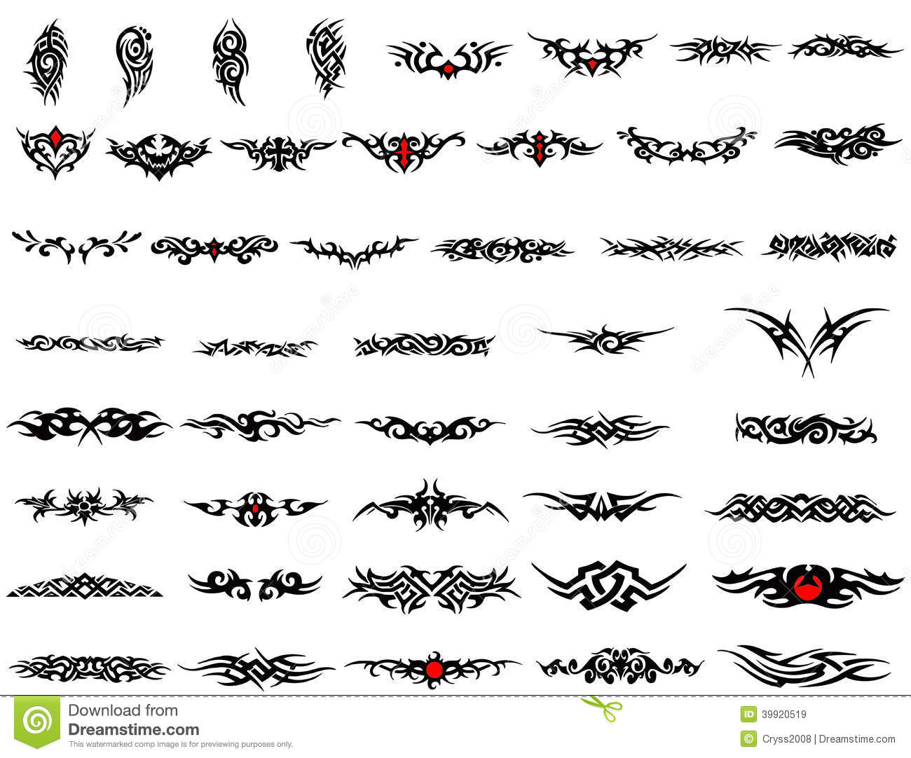 Arm Bands Tattoo Stock Illustration Image 39920519