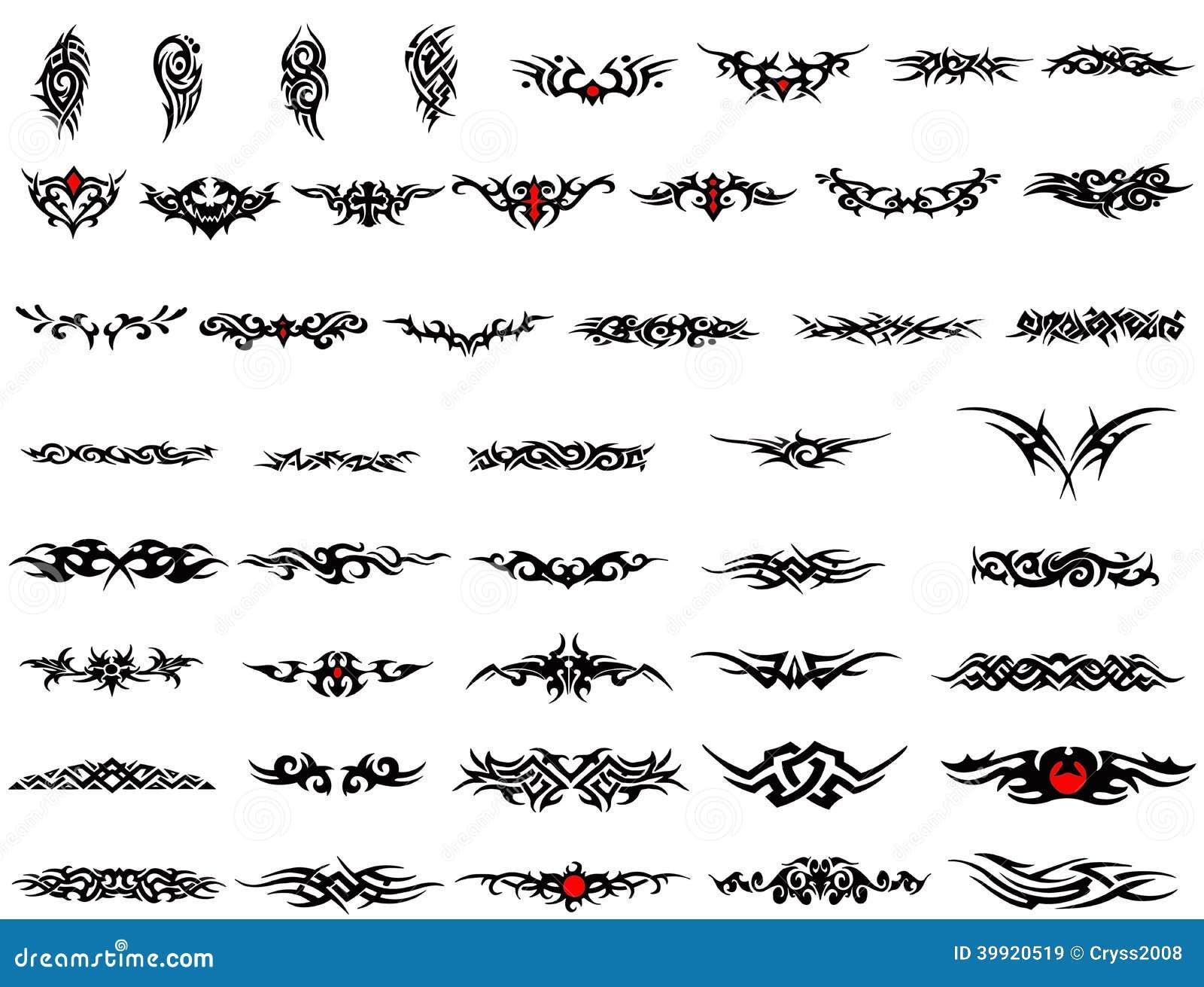 Arm Bands Tattoo Stock Illustration - Image: 39920519