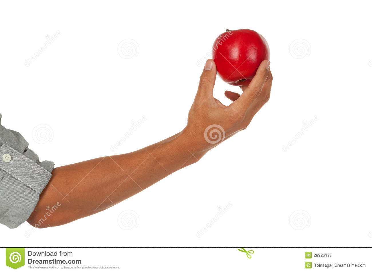Hand Holding Apple