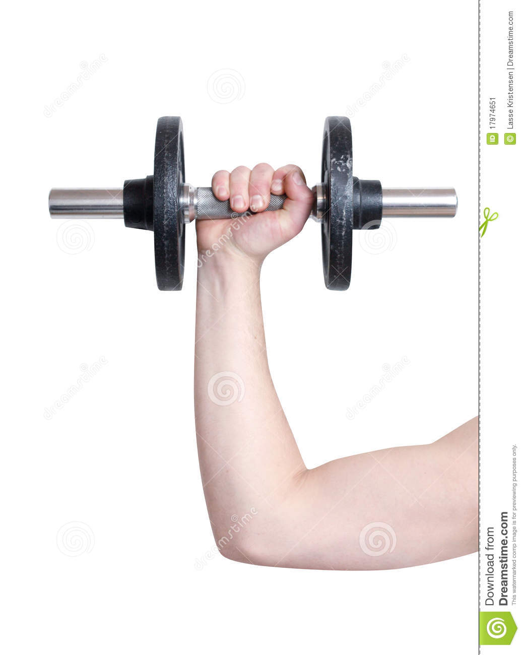 Arm Lifting Weight Stock Image - Image: 17974651