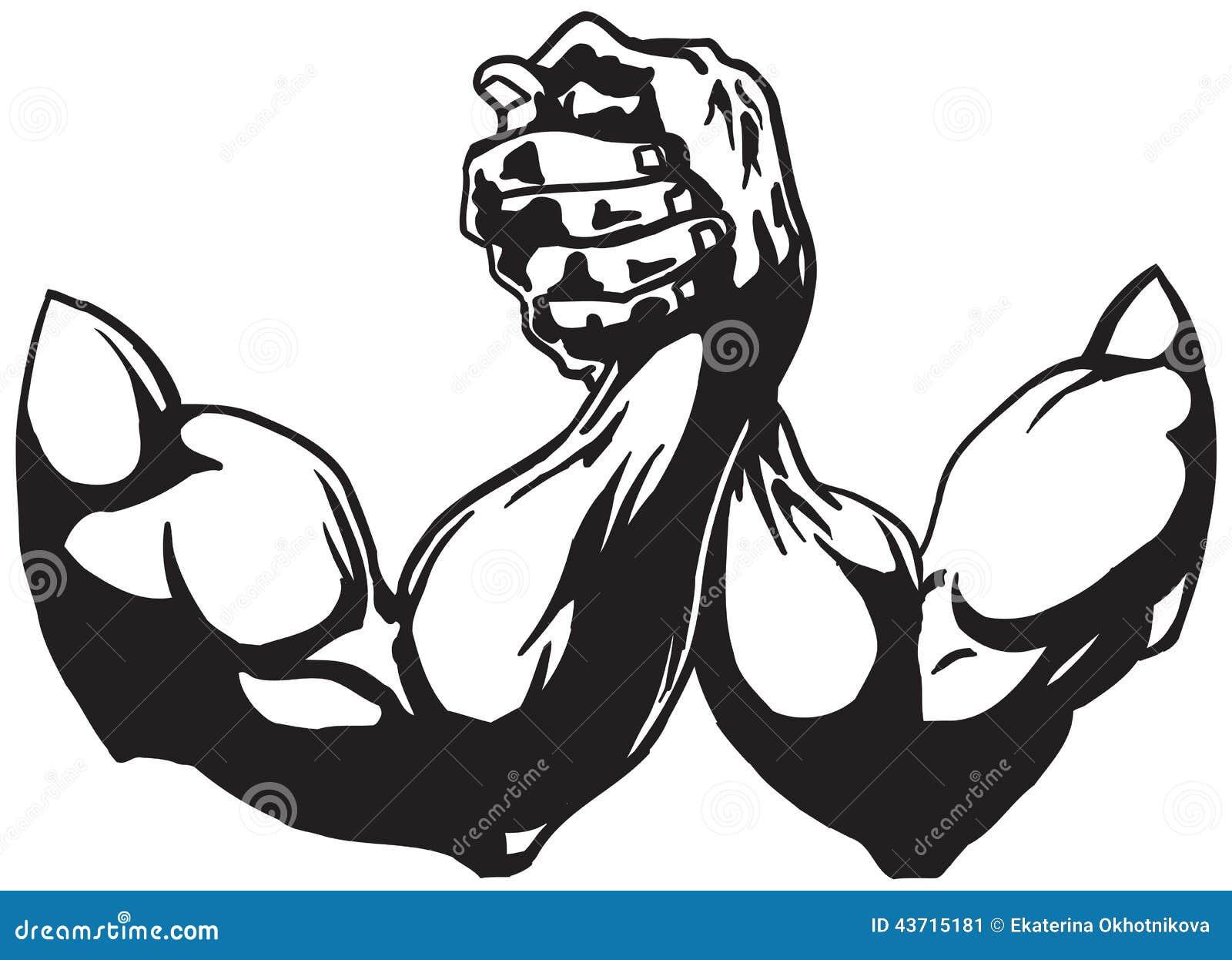 Arm Wrestling Cartoon Vector Cartoondealer 38777177