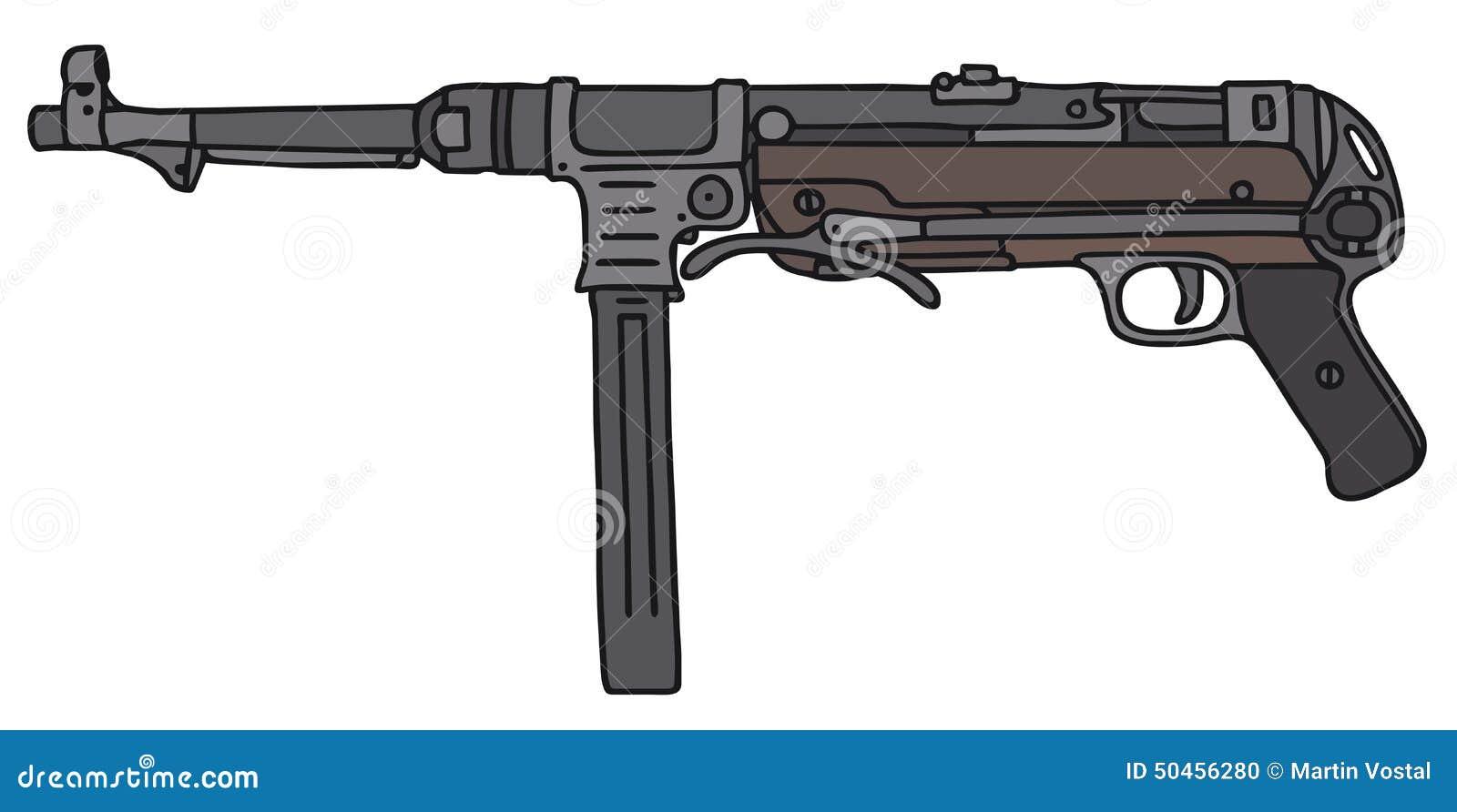 Arma automático viejo de Alemania