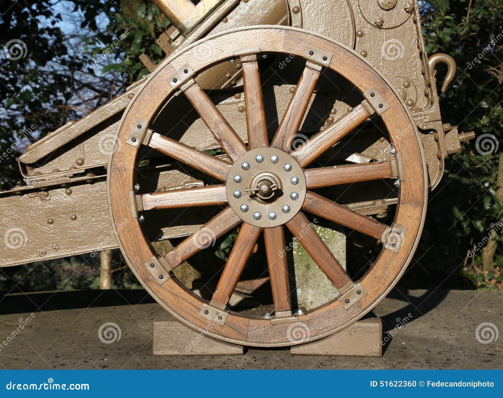 Arma De Madera De La Rueda De La Primera Guerra Mundial En