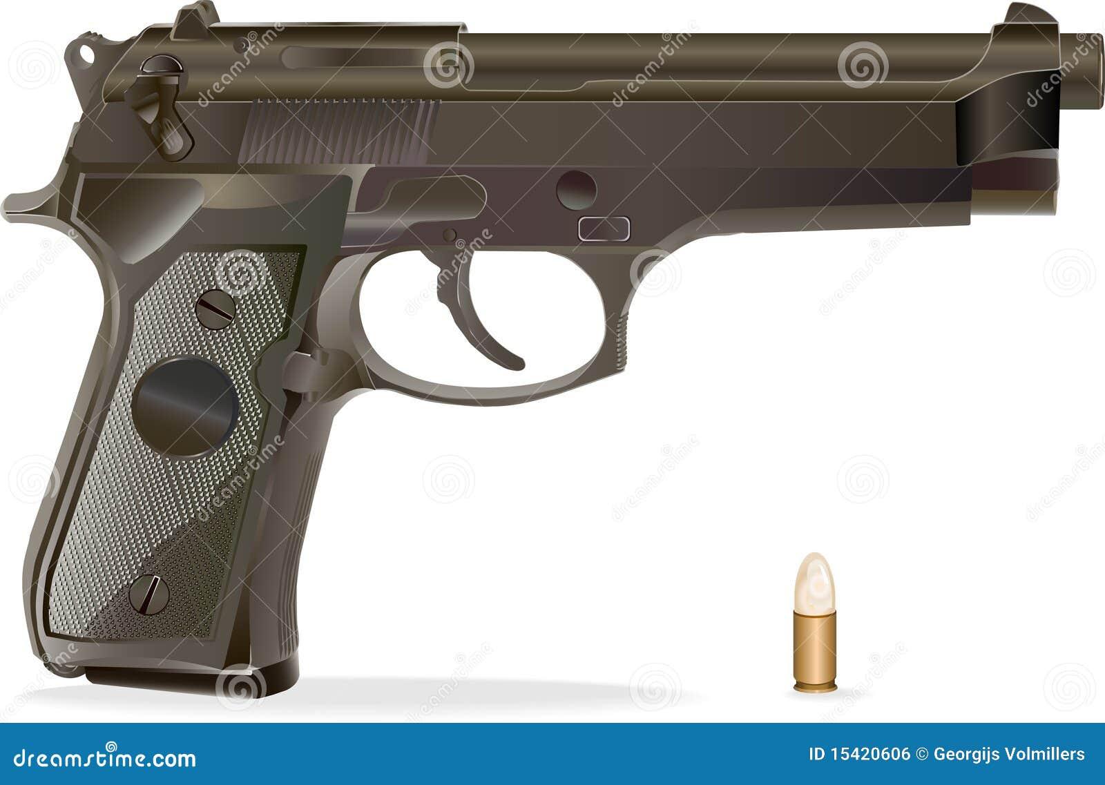 Arma de mano del vector.
