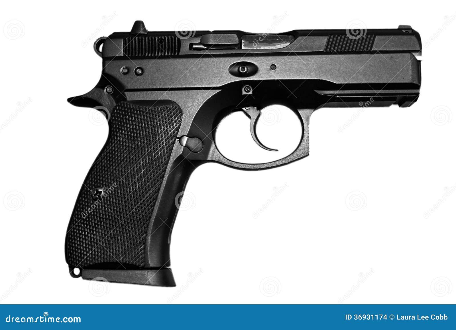 Arma de mano negra