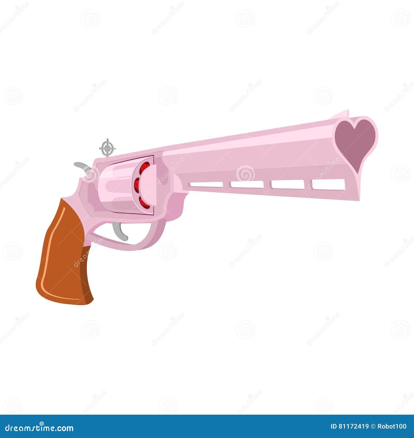 Arma di amore isolata Cuore delle munizioni di Gunl su fondo bianco