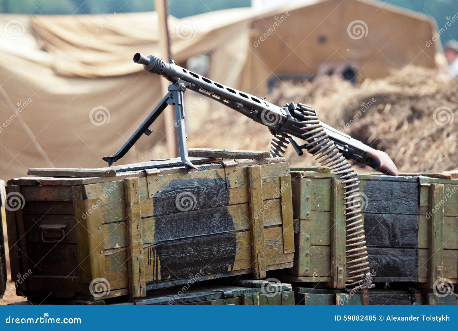 Arma en las cajas de munición