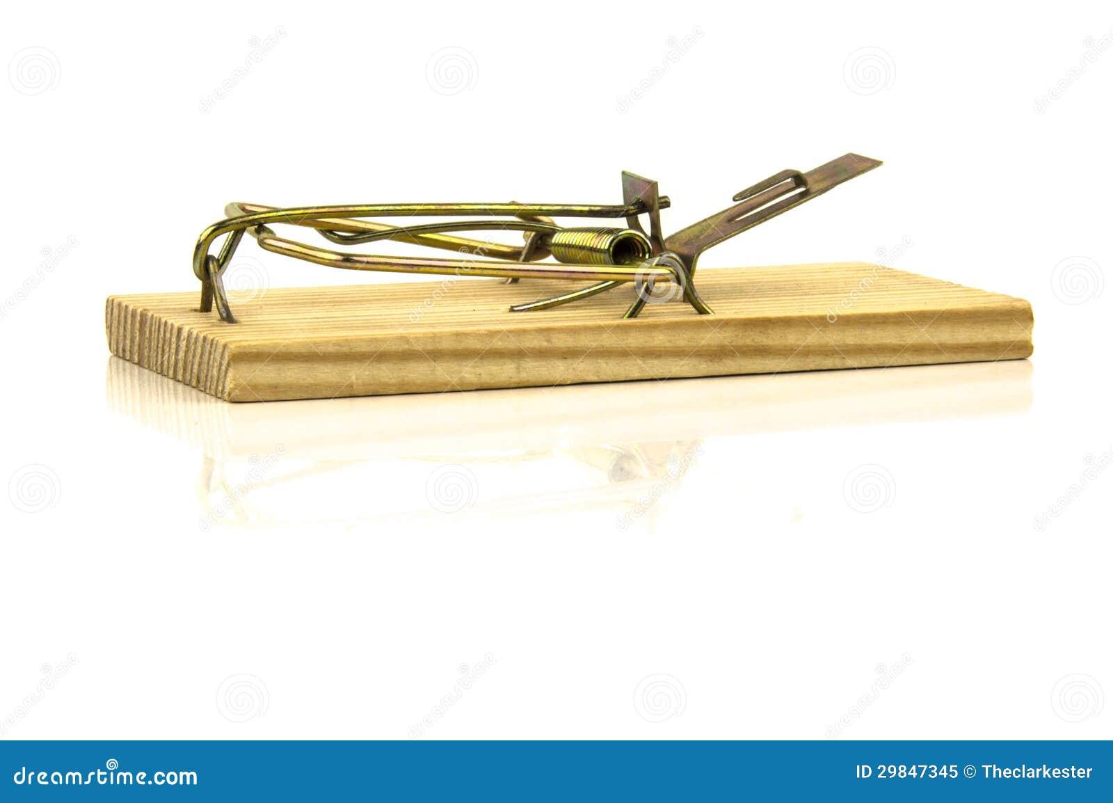 Uma imagem de uma armadilha do rato isolada