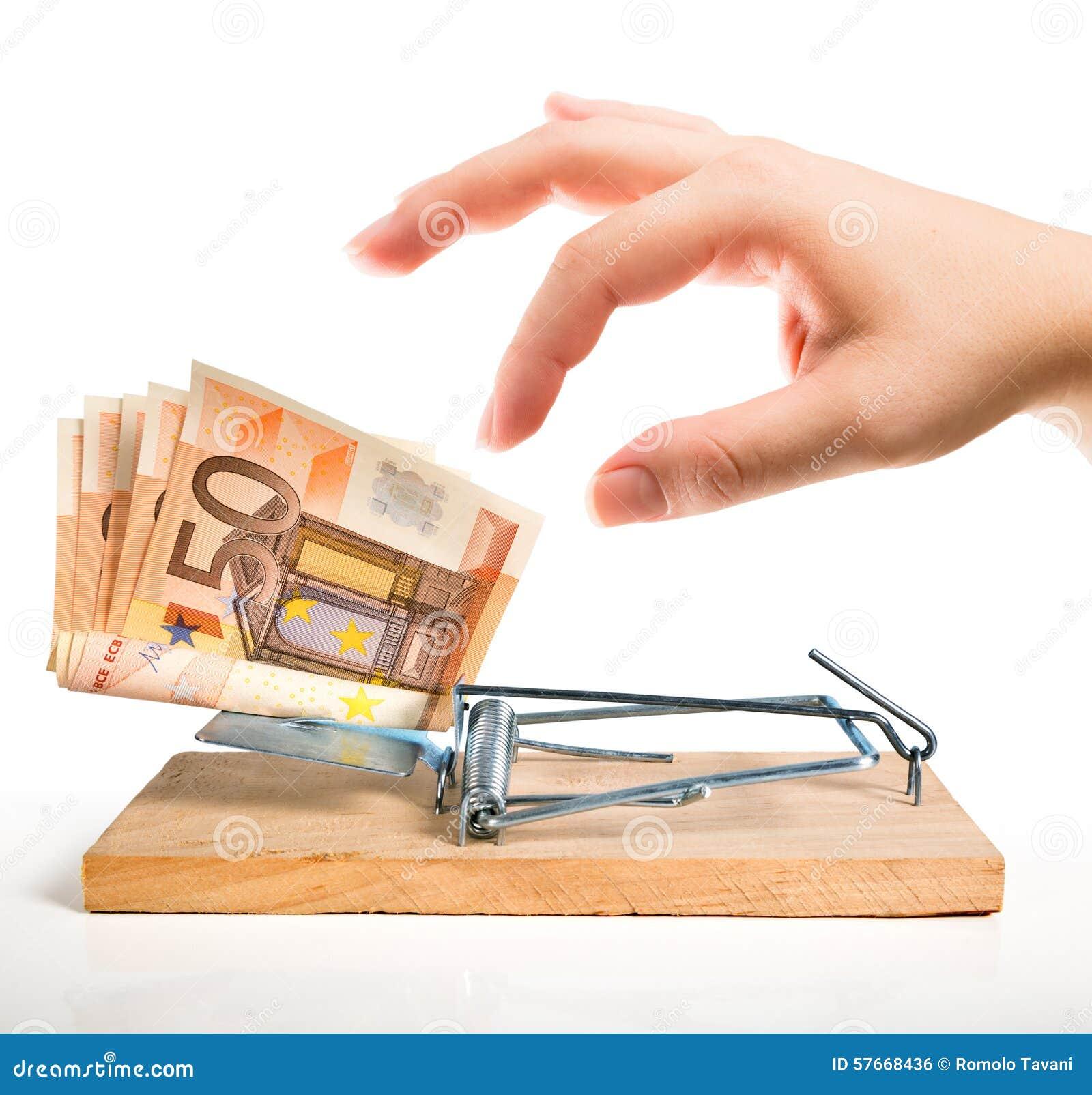 Armadilha do dinheiro - euro- isca