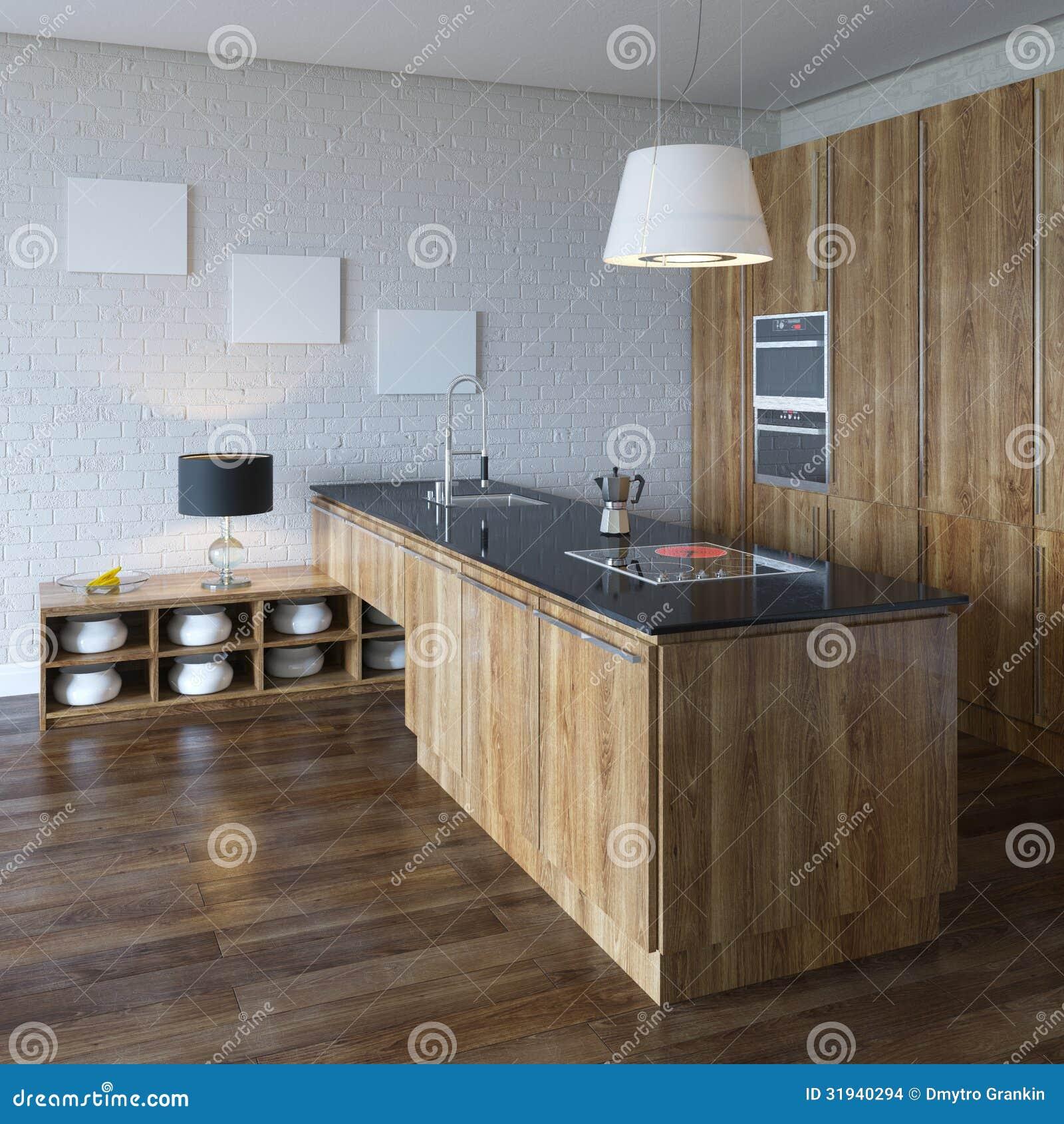 armadio da cucina di lusso (mobilia di legno) immagini stock ... - Cucina Di Design Armadio Di Lusso