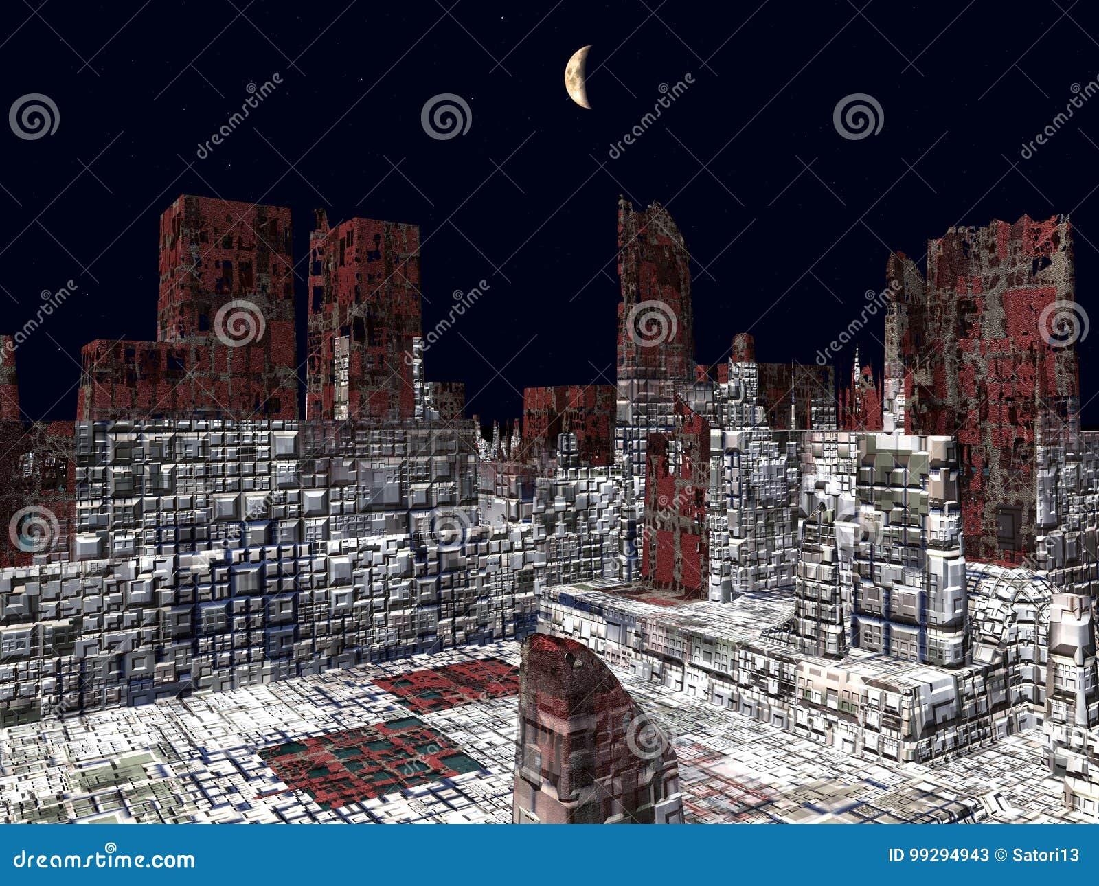 Armageddon nella rappresentazione di New York 3d