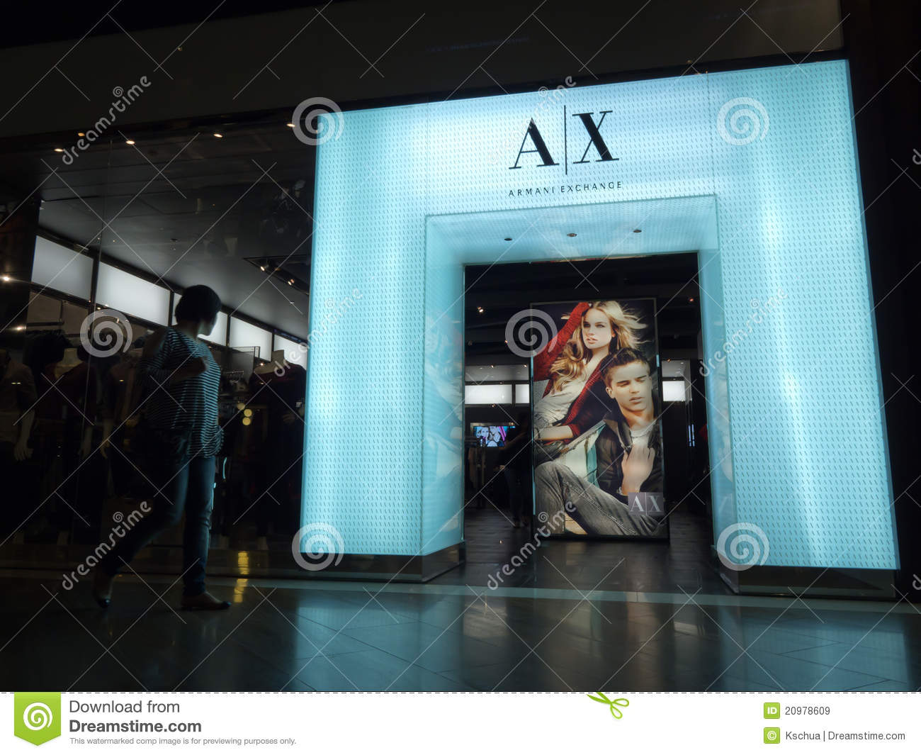 78730f7201ff Armani Exchange Retail Store Editorial Stock Image - Image of brand ...