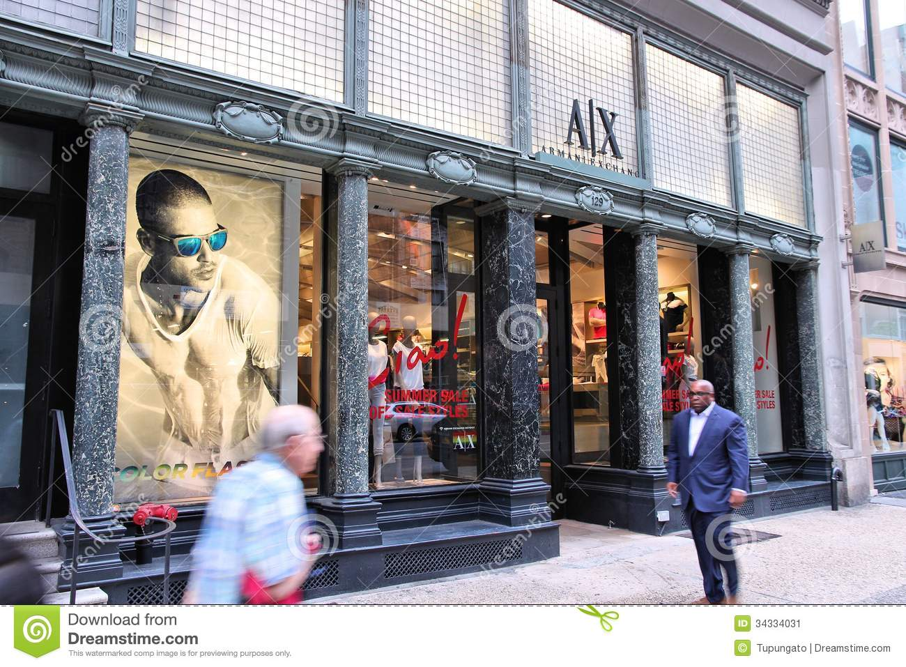 Armani exchange store editorial photo image 34334031 for Armani store nyc