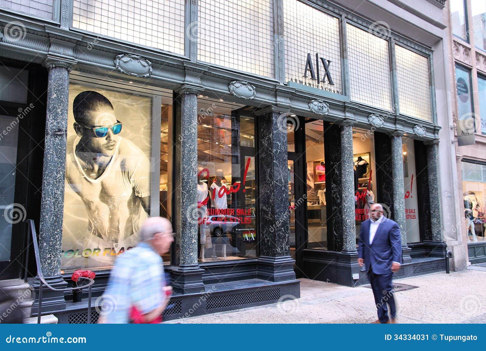 Armani Exchange Store Editorial Photo - Image: 34334031