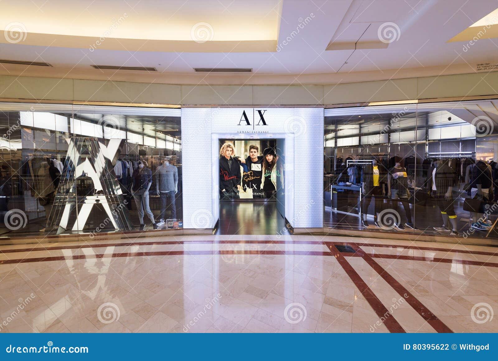Armani Exchange Store In Suria KLCC Mall, Kuala Lumpur ...