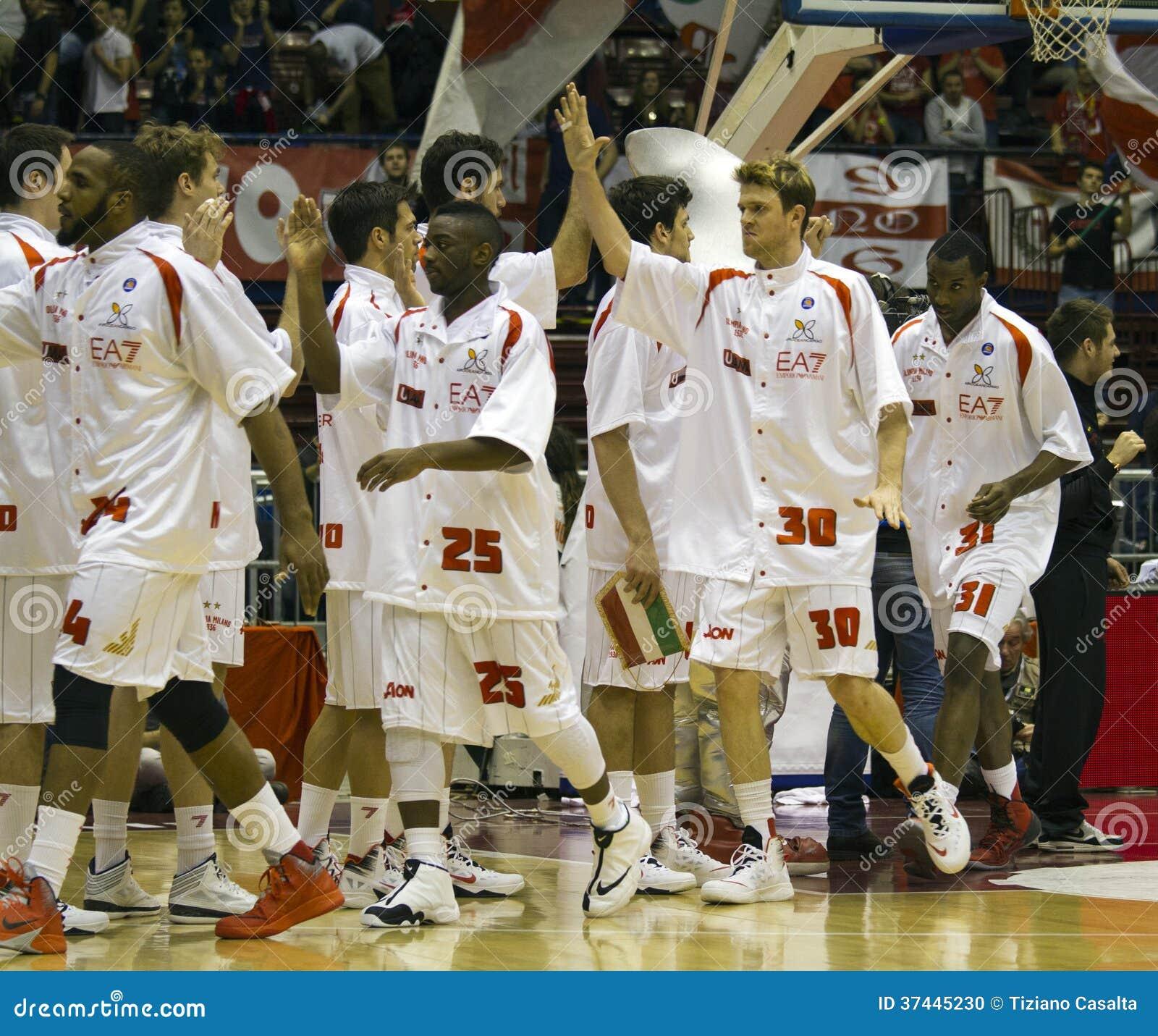 Armani milano team editorial image image 37445230 for Basketball store milano