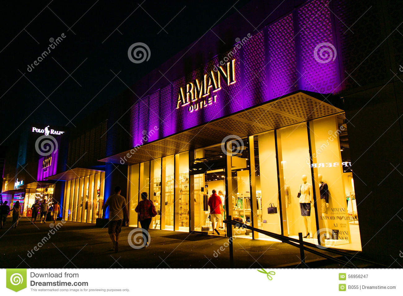Armani outlet editorial photography image of boss prada for Armadi outlet