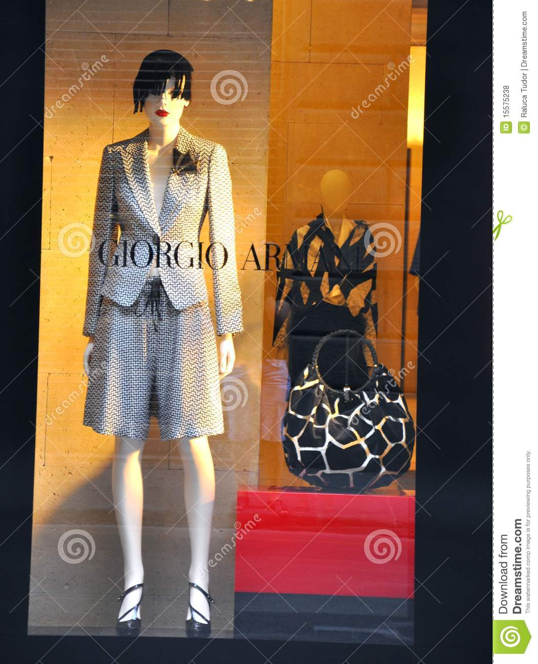 armani woman fashion shop in italy editorial stock photo. Black Bedroom Furniture Sets. Home Design Ideas