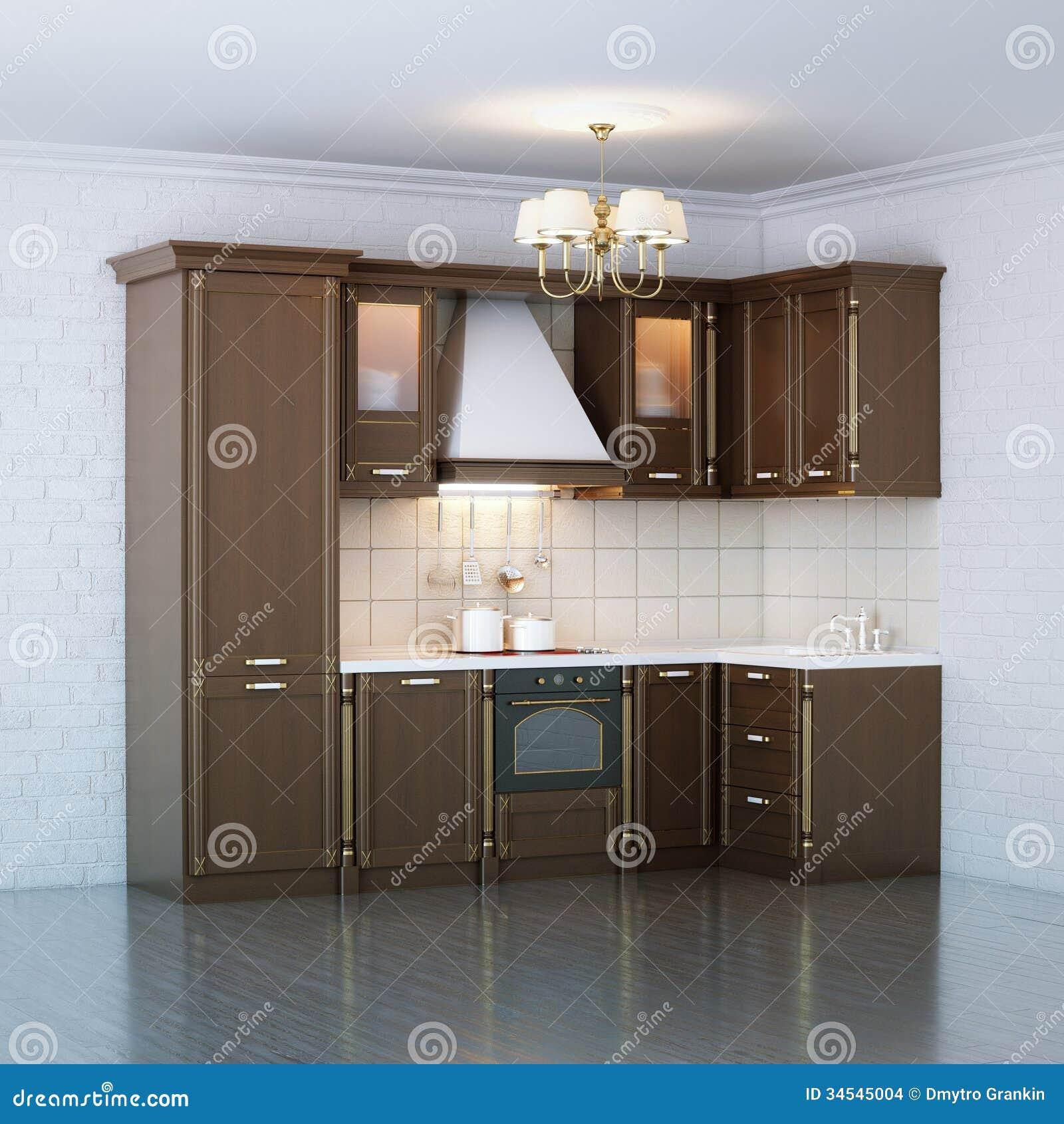 Armario de cocina de madera de lujo imagenes de archivo - Armarios de lujo ...