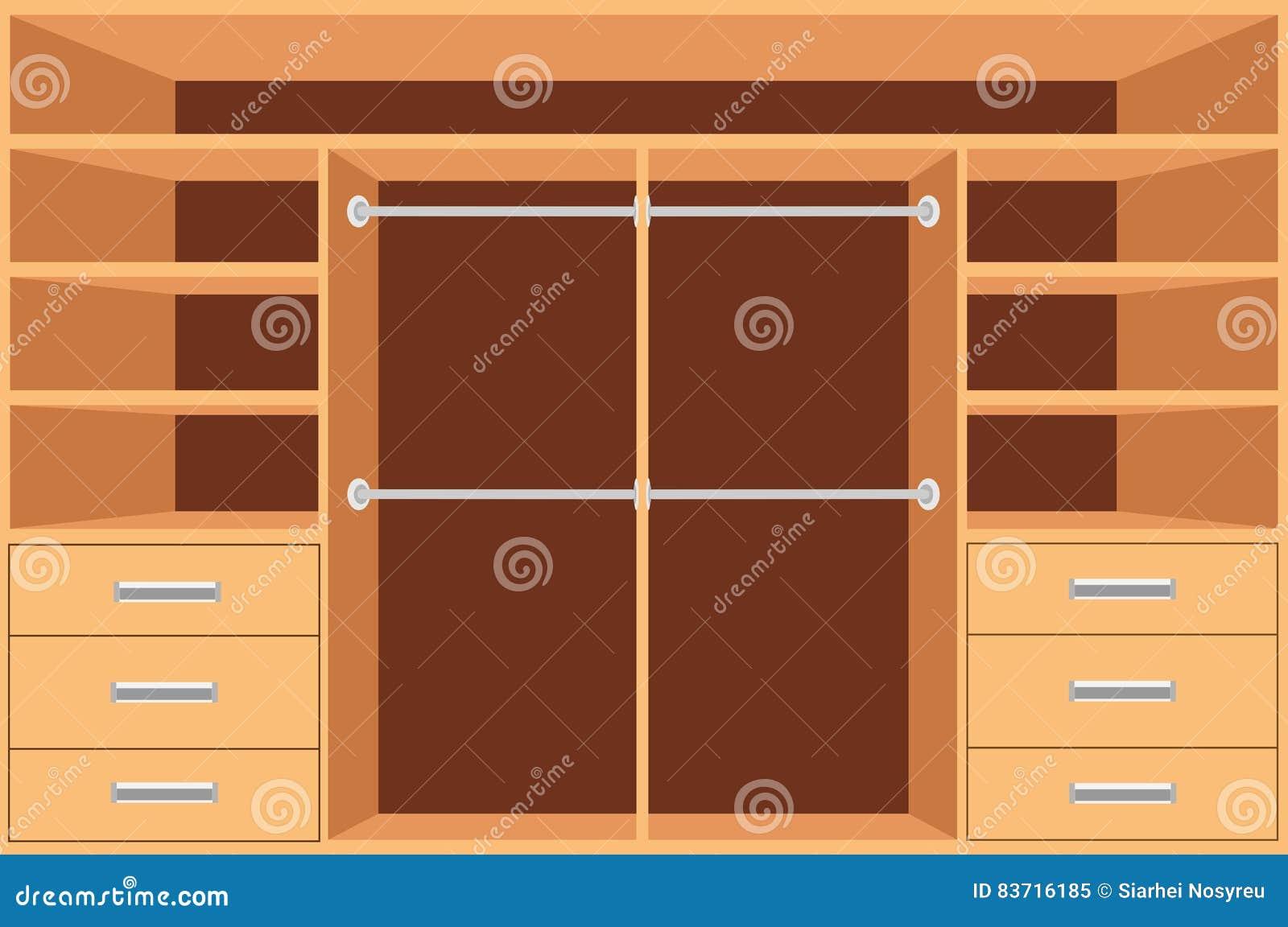 Armario guardarropa con los estantes y cajones armario for Diseno interior de armarios