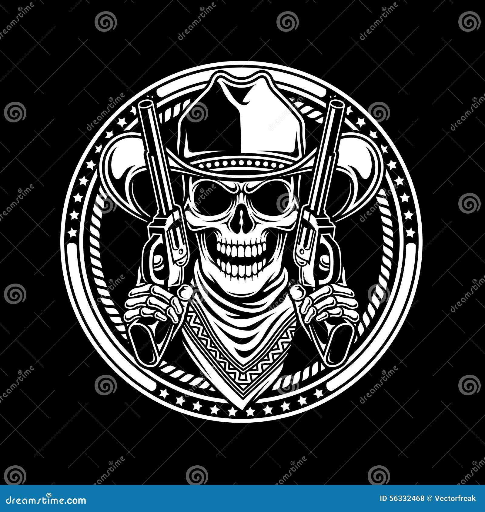 Armas del control de Skull del vaquero