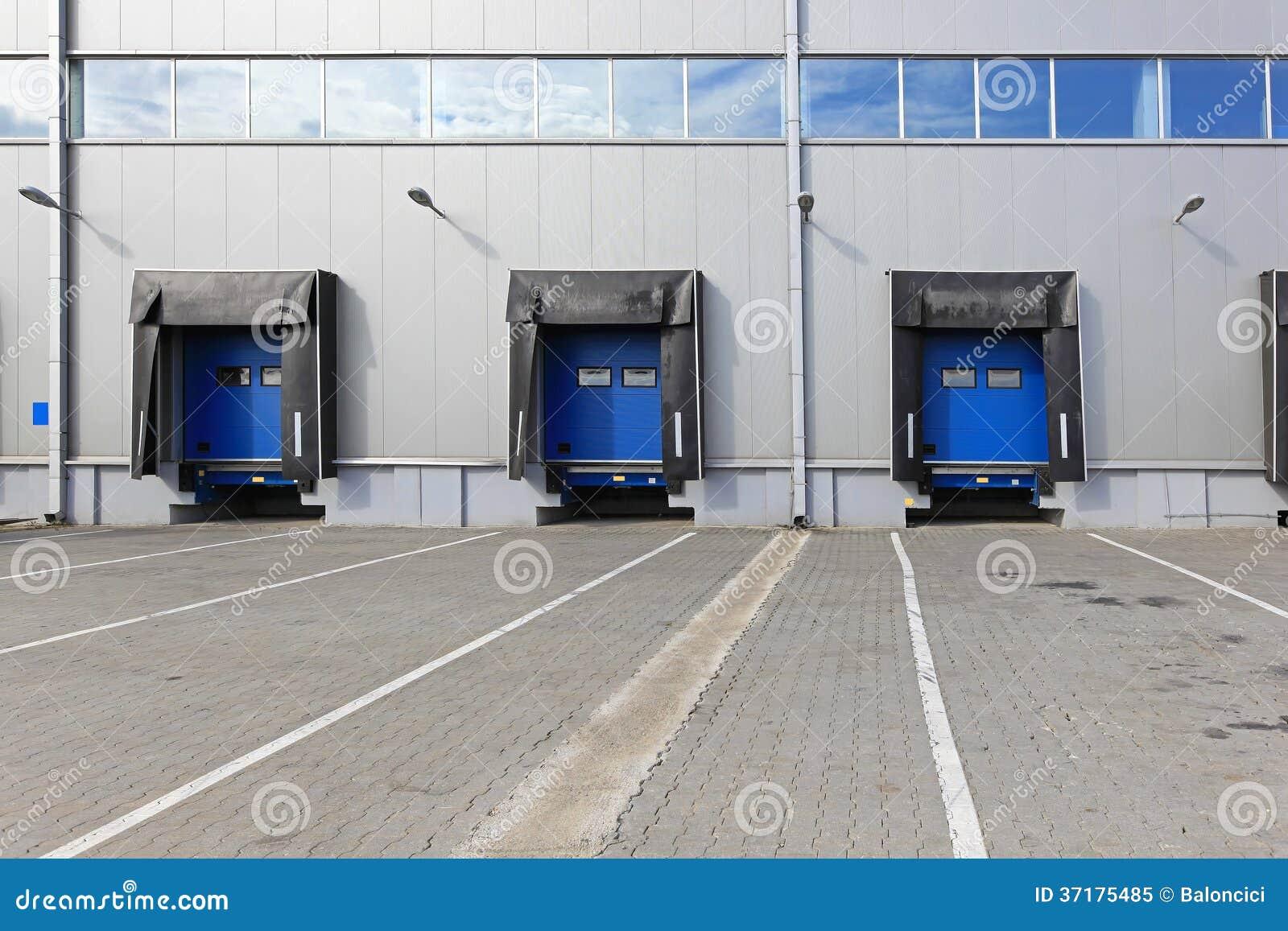 Armazém de doca da carga