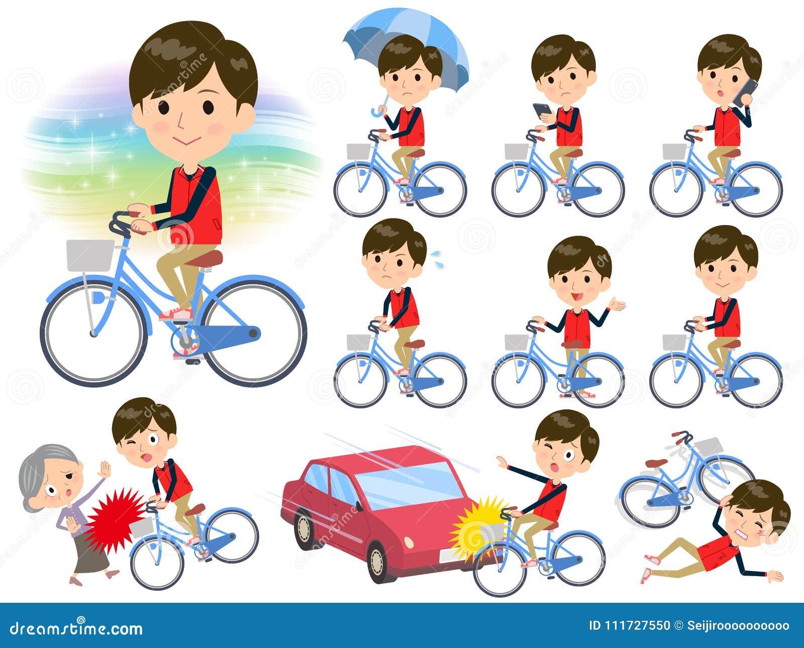 Armazene a bicicleta uniforme vermelha do men_city do pessoal