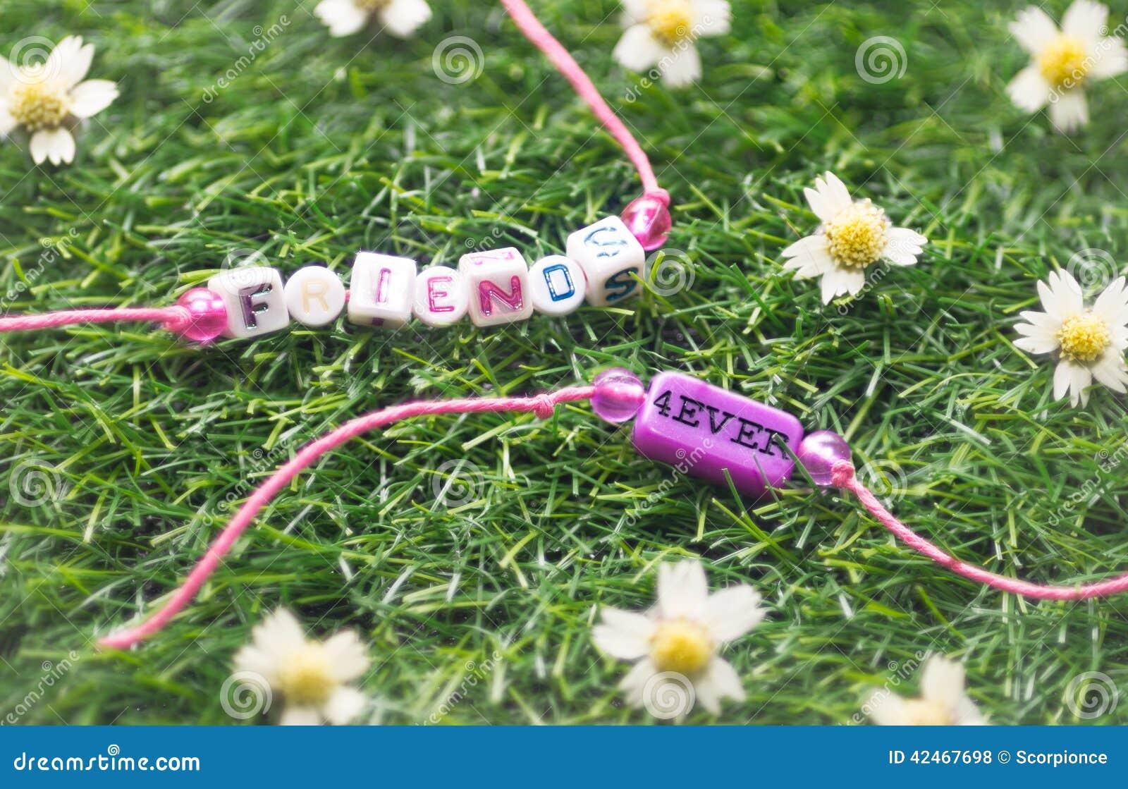 Armband der Freundschaft zwei auf Gras