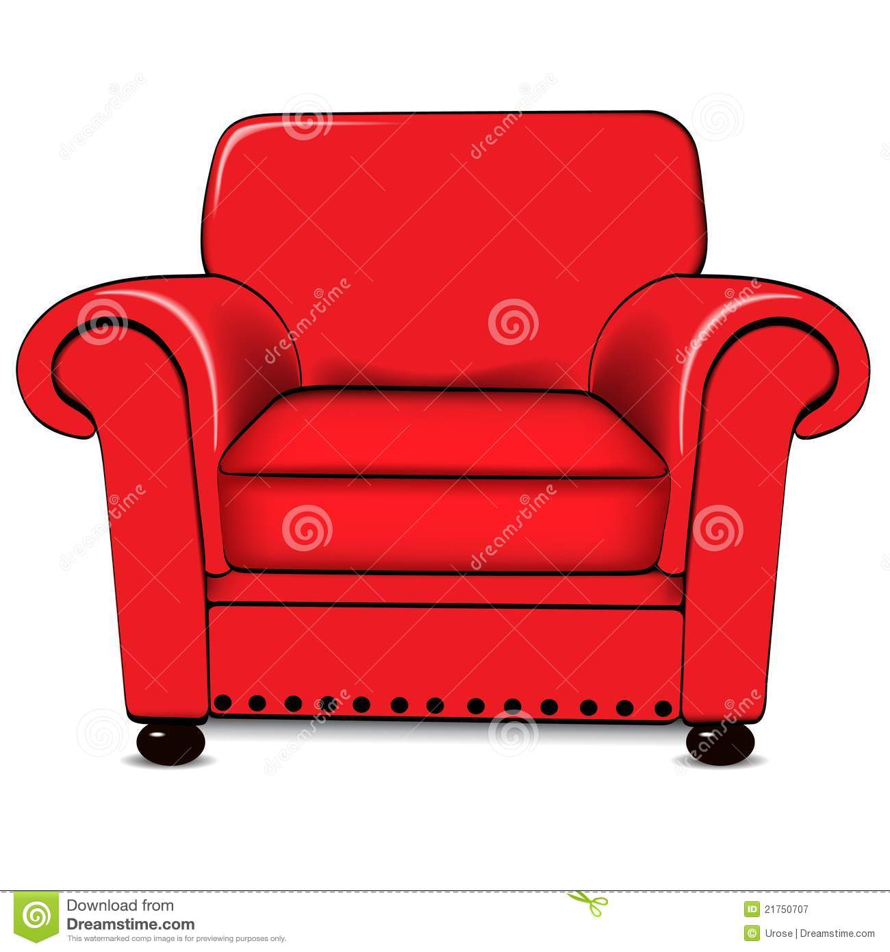 Armchair Stock Vector Illustration Of Furniture