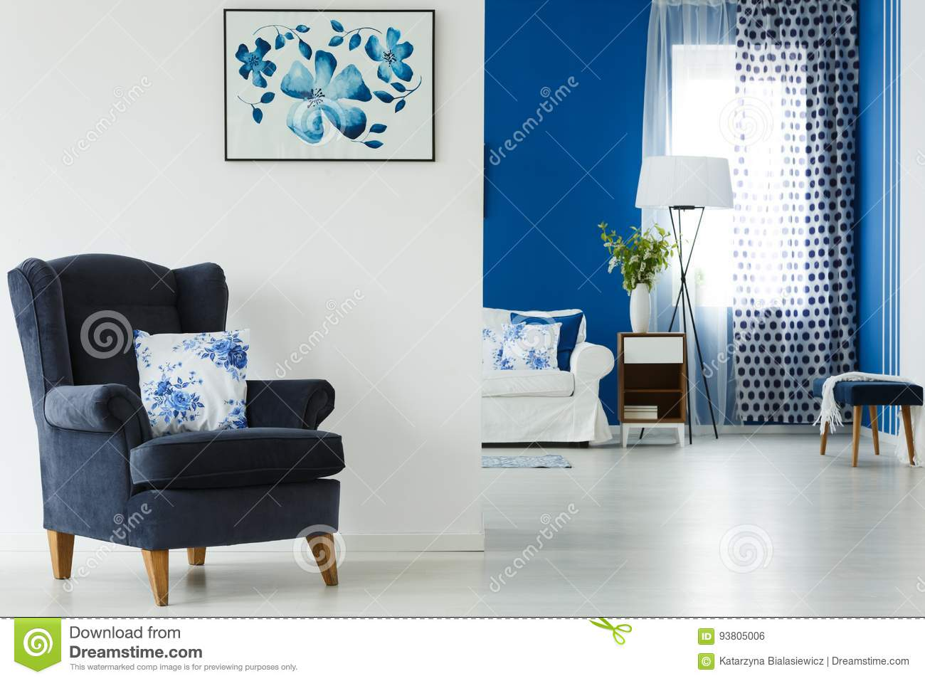 Armchair with pillow stock photo. Image of armchair ...