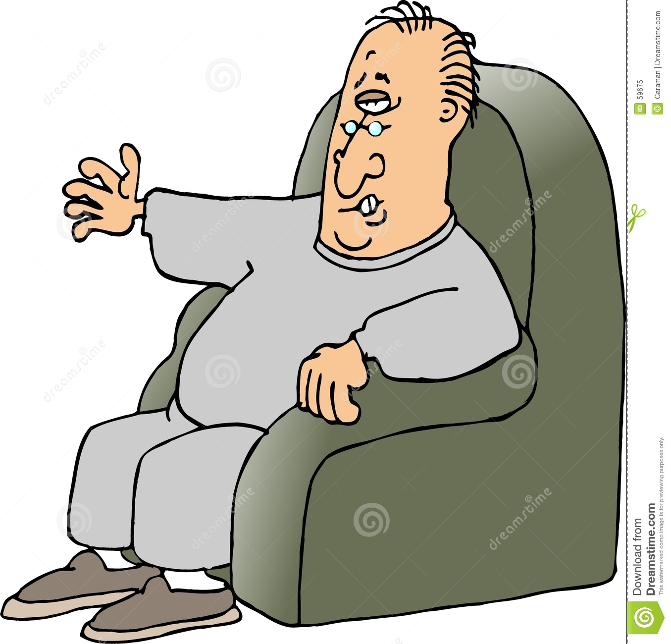 Armchair Quarterback Stock Illustration Image Of Humor