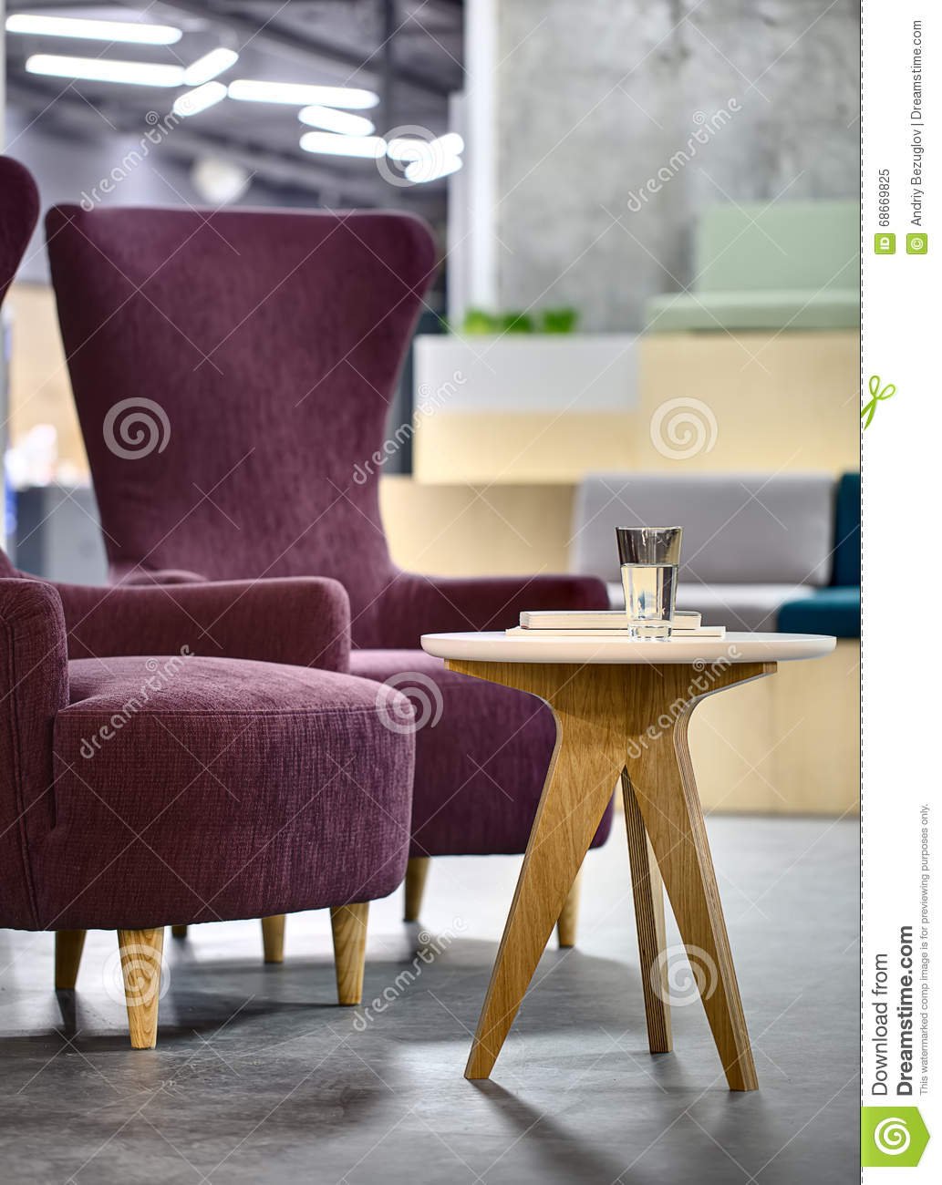 Armchairs with table