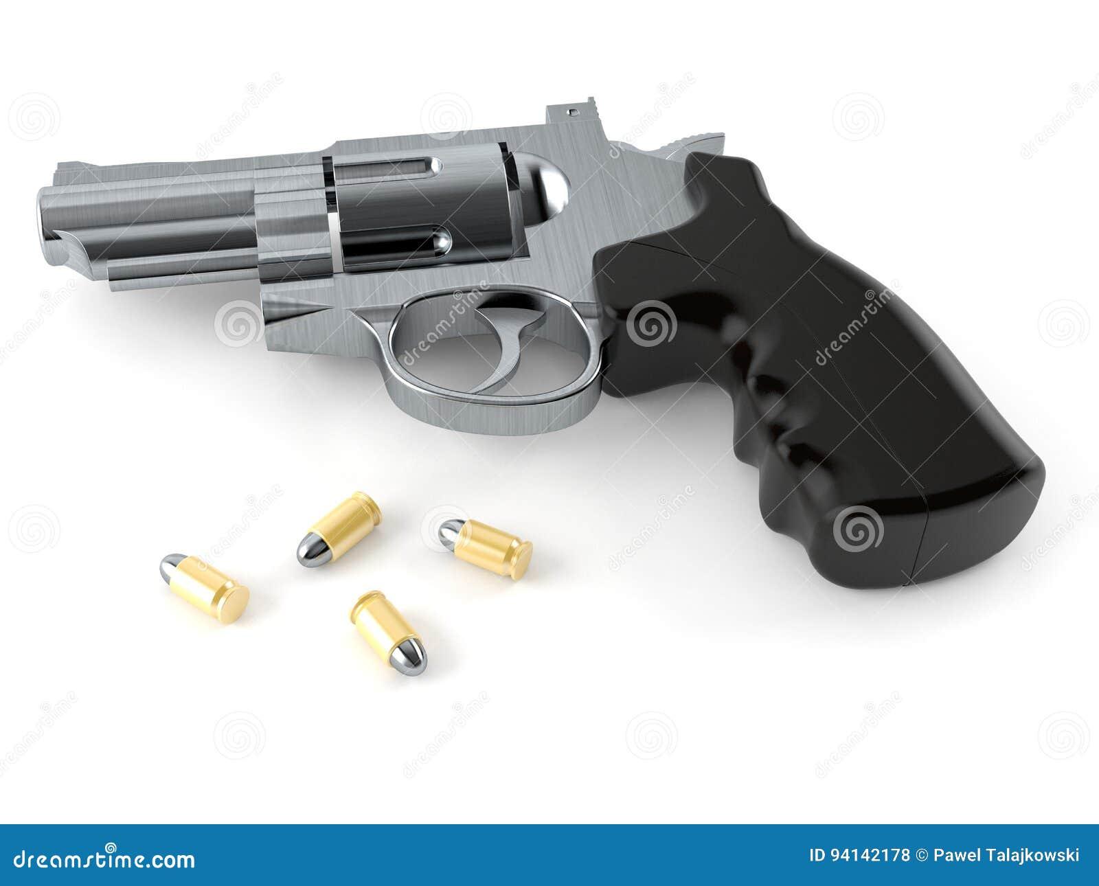 Arme à feu avec des munitions