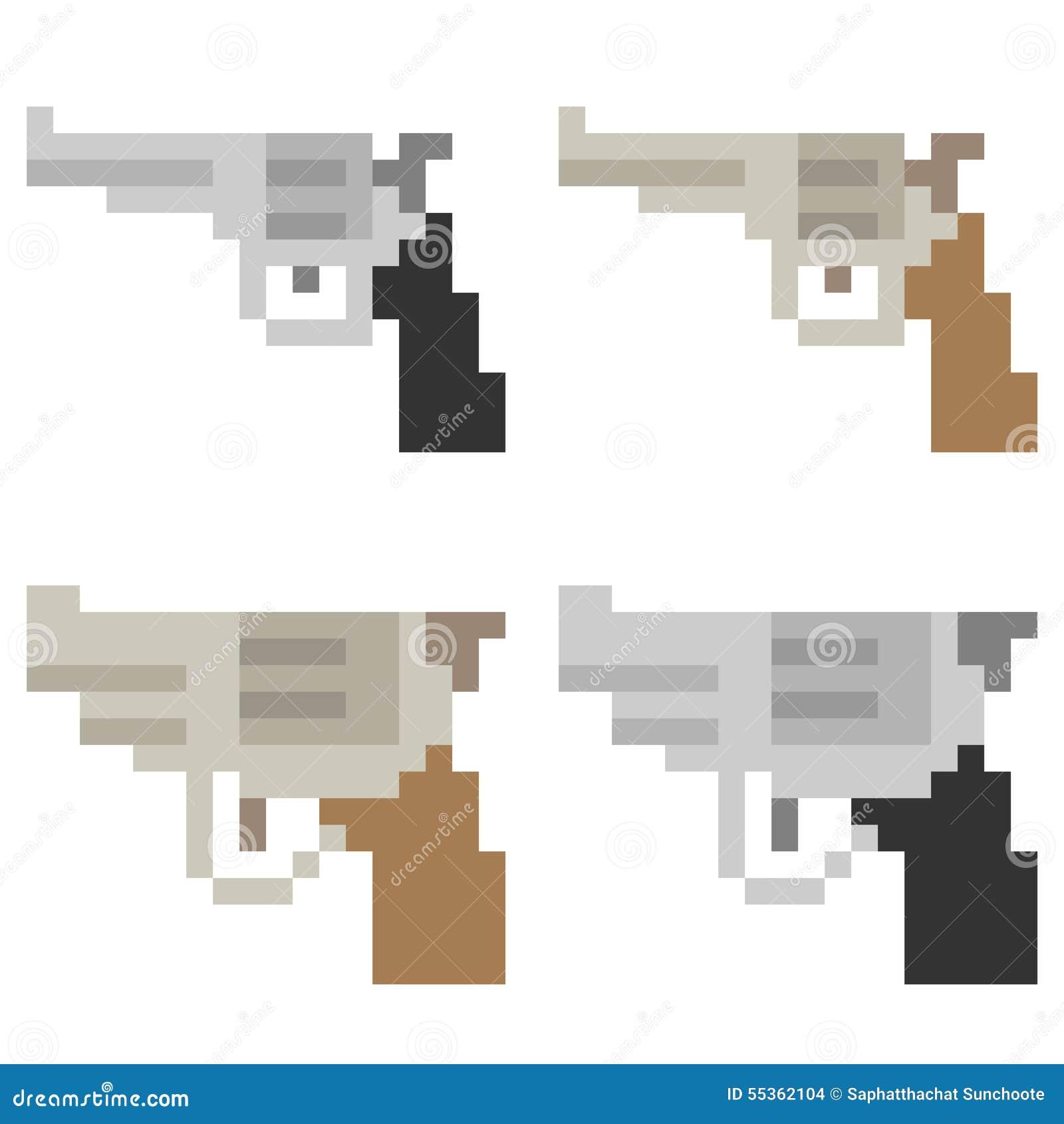 Arme à Feu D Icône D Art De Pixel D Illustration