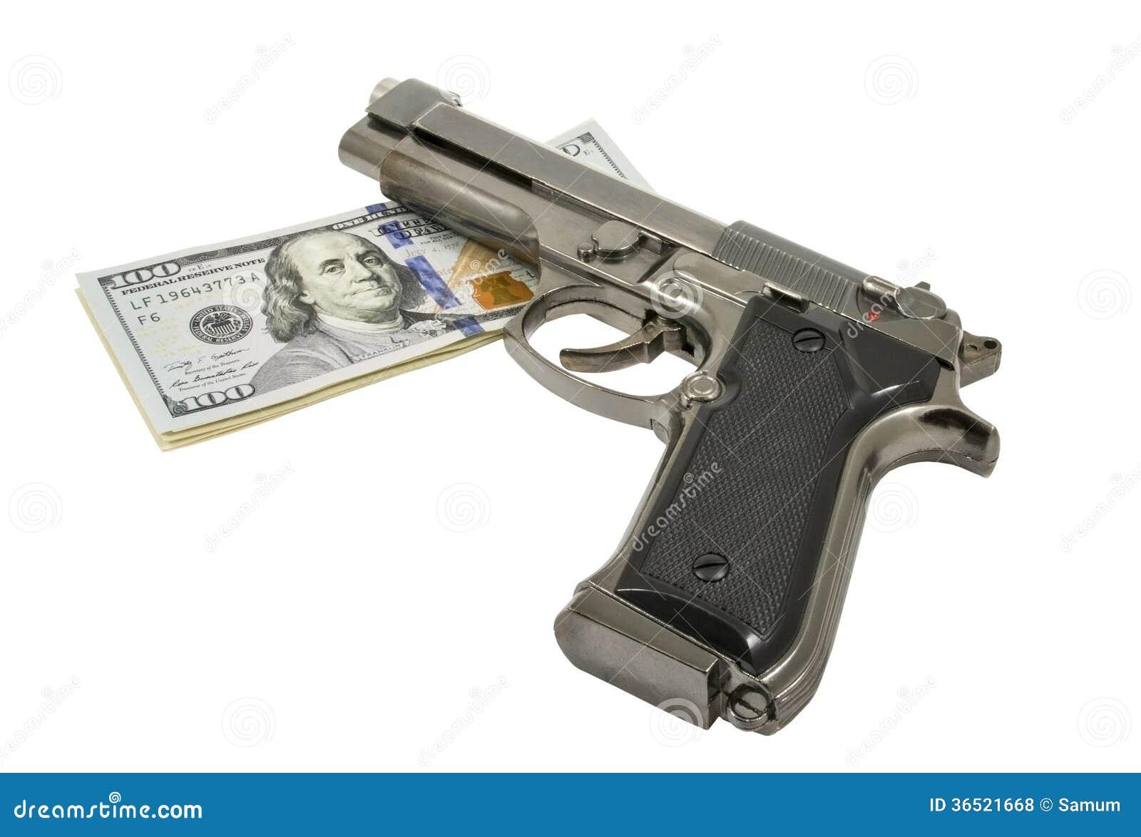 Arme à feu et argent