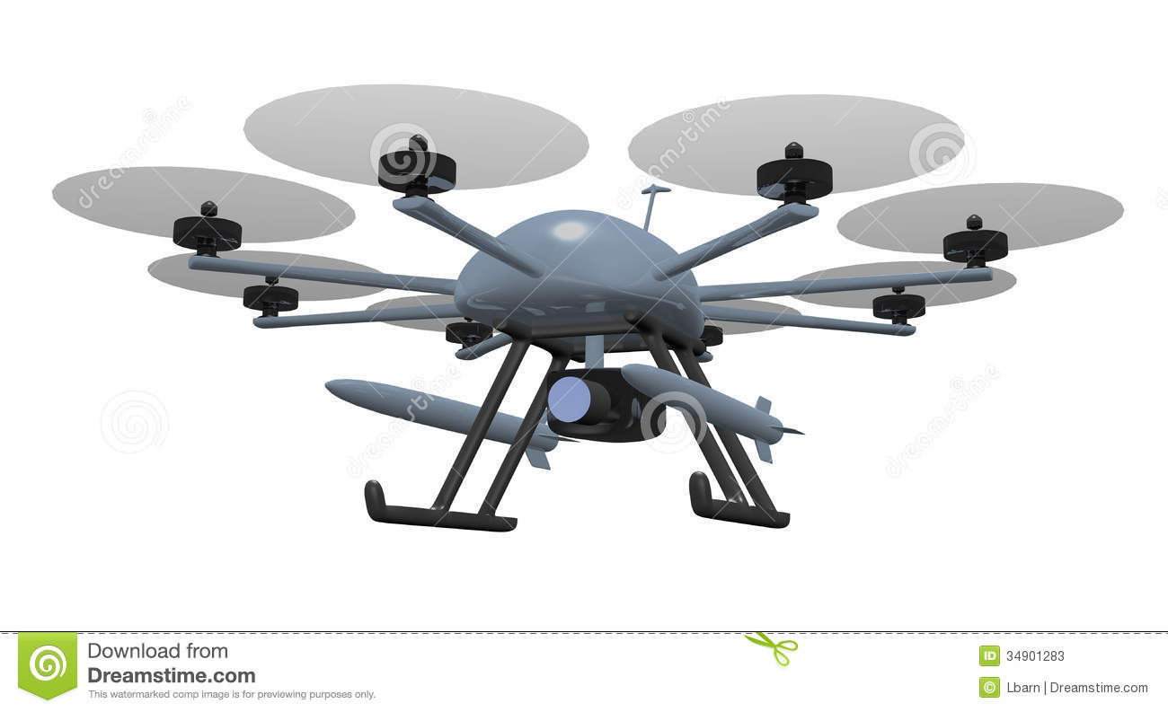 Armed Drone Stock Illustration Image Of Vehicle Industry