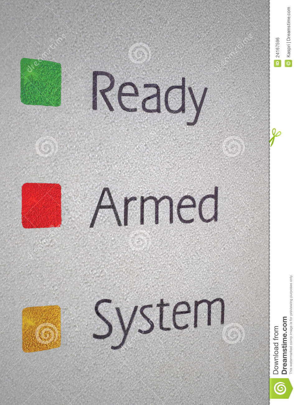Armed Home Security Alarm System Panel Macro Royalty Free