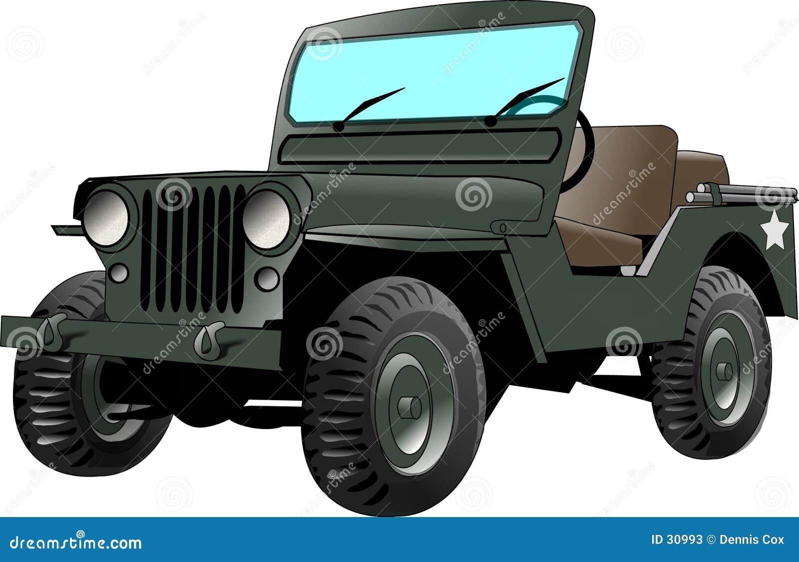 Download Armee-Jeep stock abbildung. Illustration von armee, militärisch - 30993