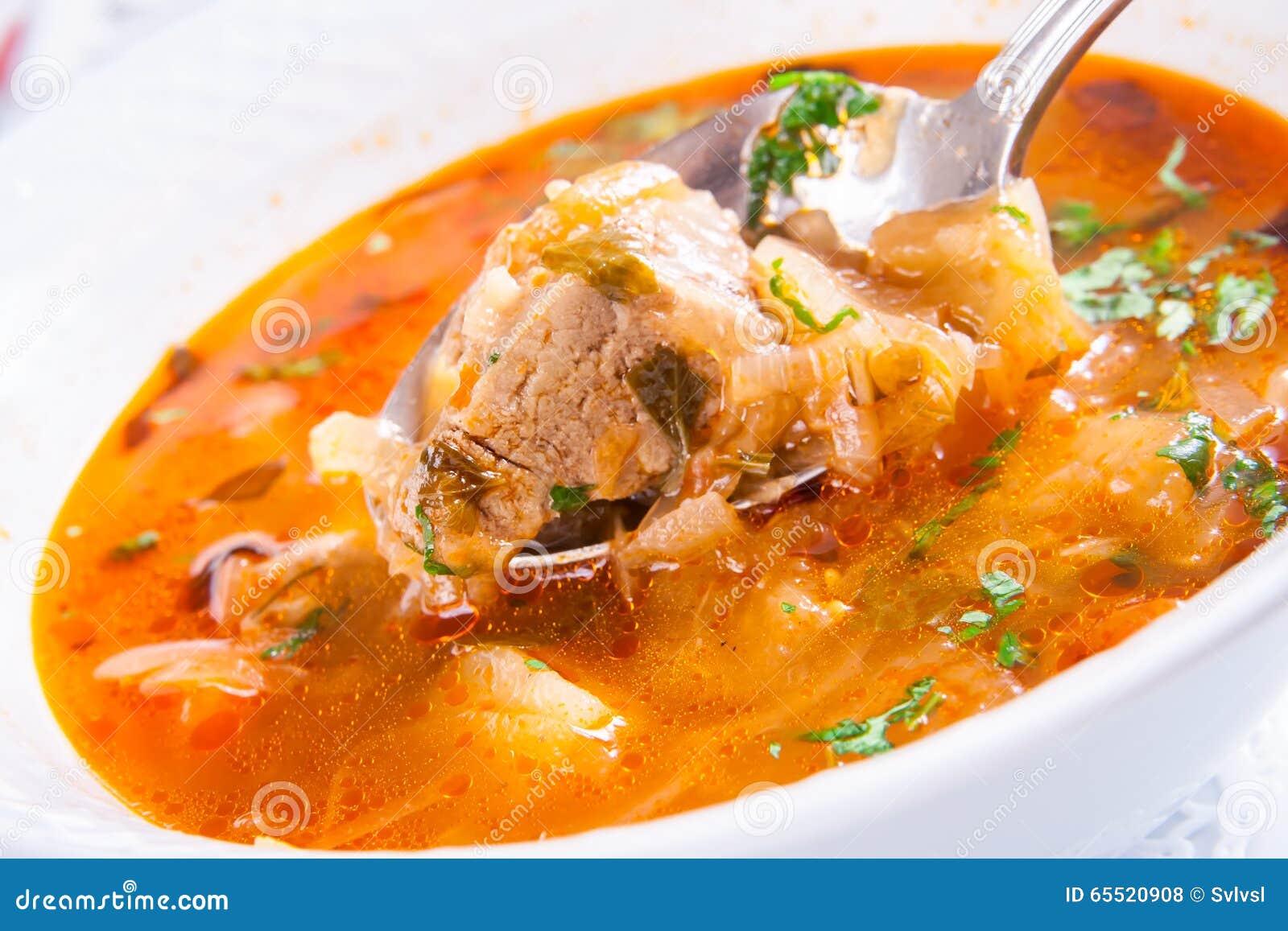 soep met vlees