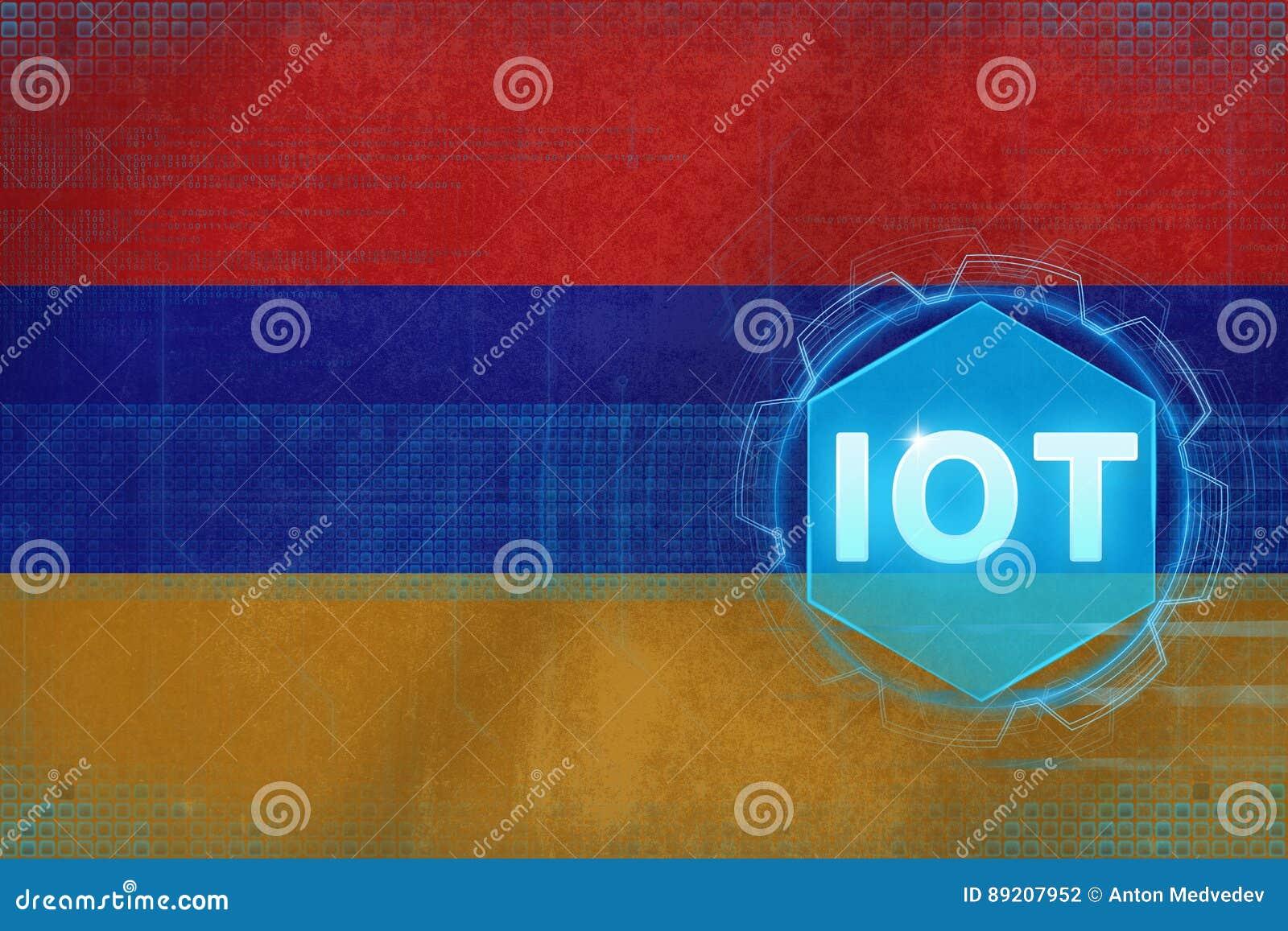 Armenia IOT (Internet of things). Internet of Things modern concept.