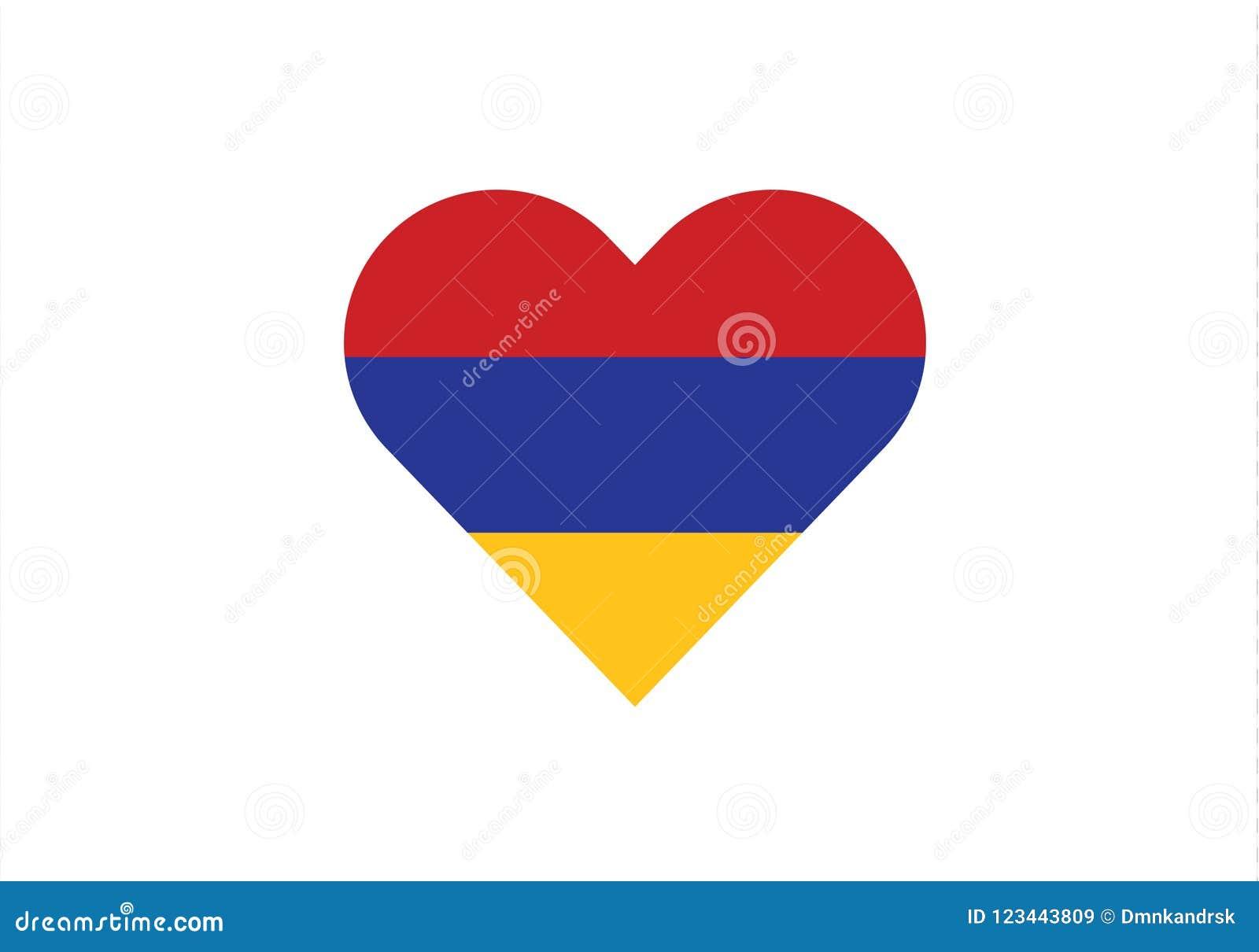 Armenia love heart shape country