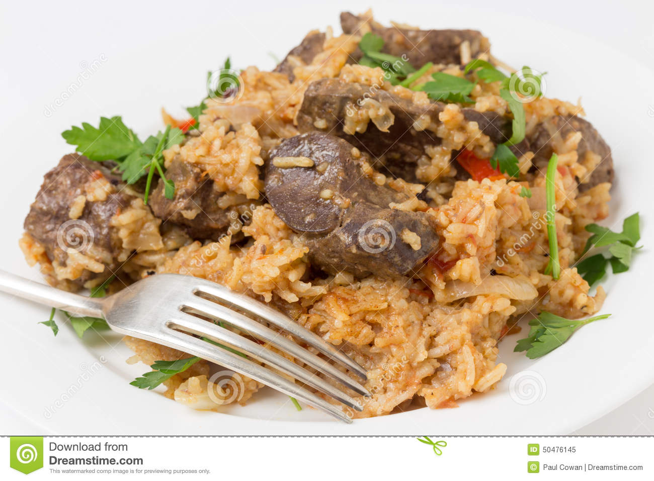Armenian liver pilaf stock photo image 50476145 for Baked chicken liver recipes
