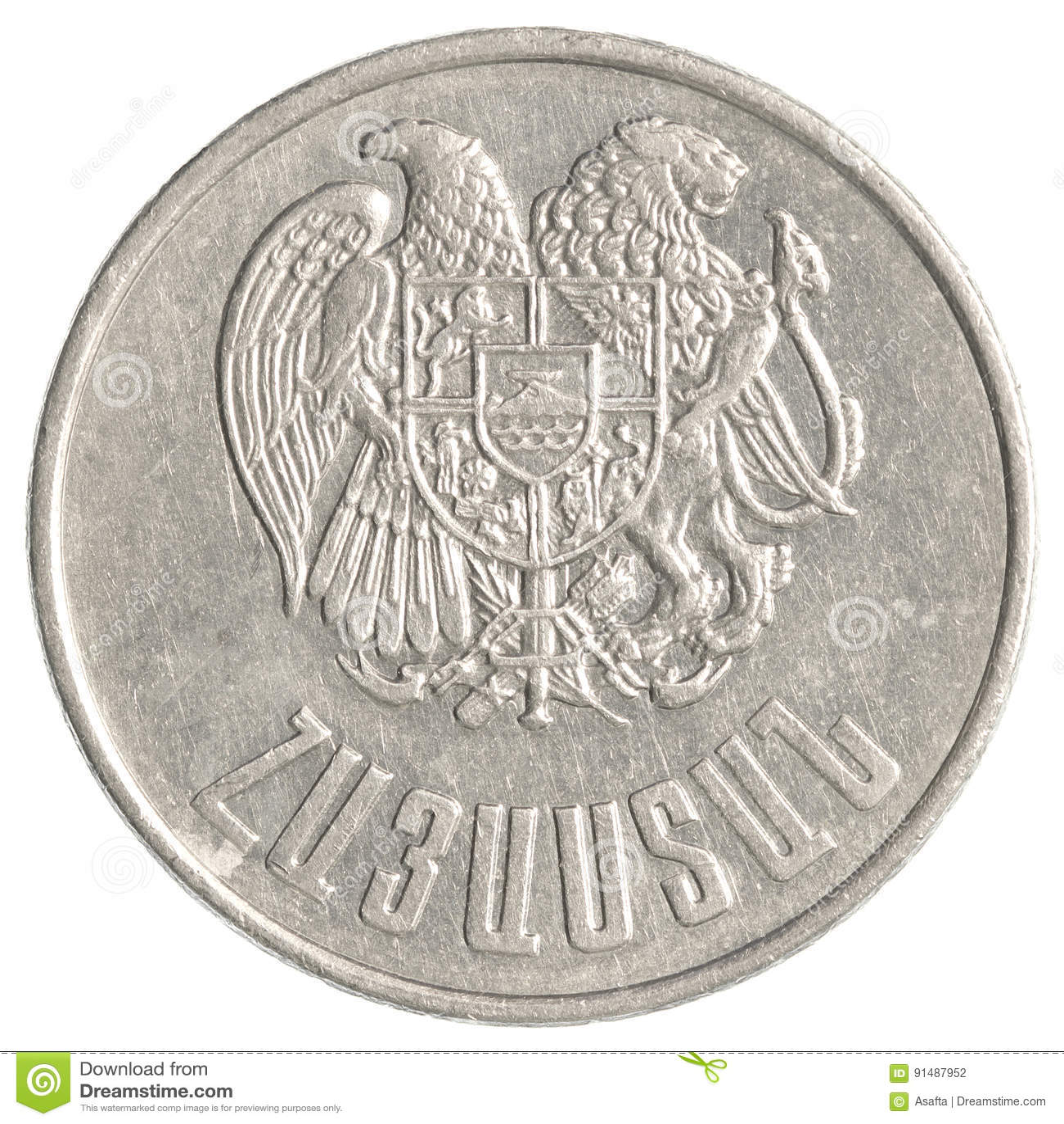 10 armenische Dollar Münze