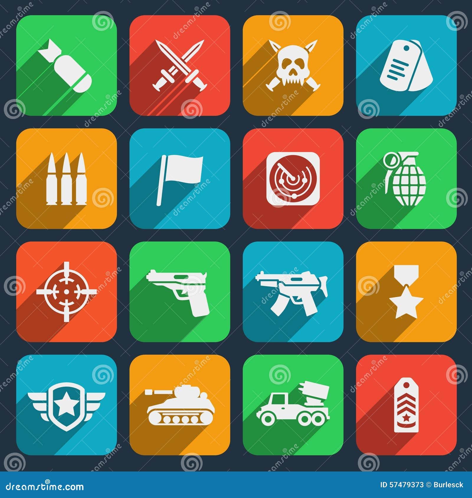Armes et icônes de munitions