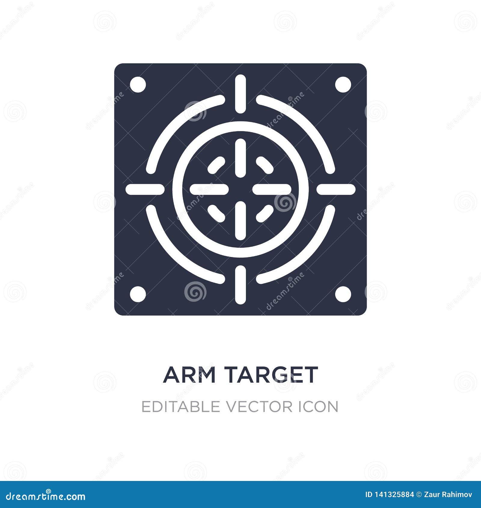 Armmålsymbol på vit bakgrund Enkel beståndsdelillustration från allmänt begrepp