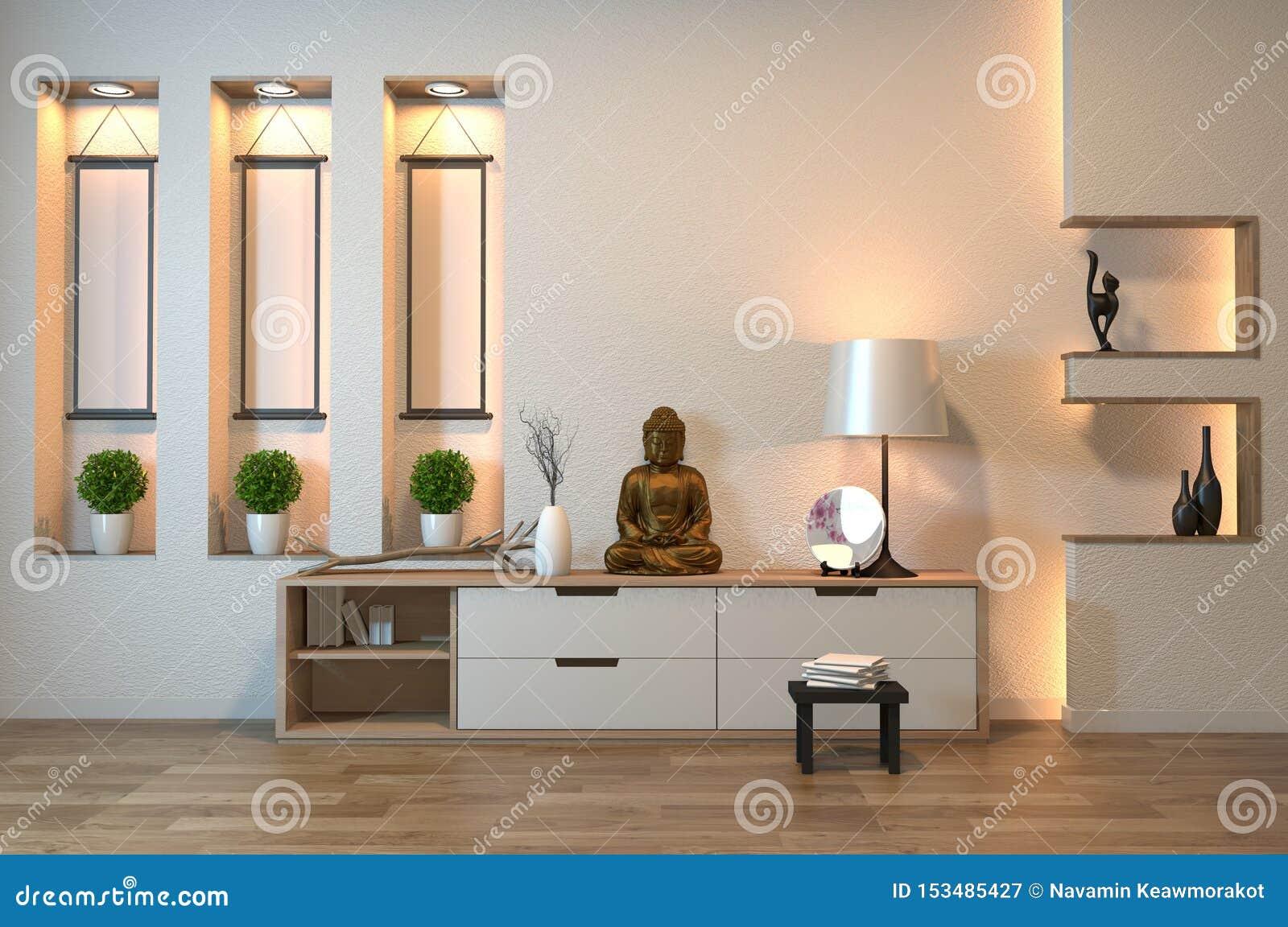 Armoire Du Japon Dans Le Style Vide De Zen De Chambre ...