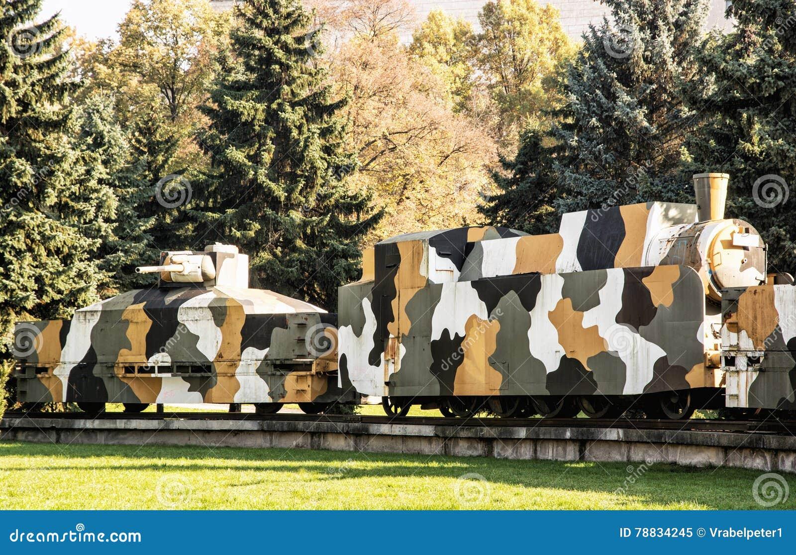Armored Train Hurban In Zvolen, Slovakia, World War II Memorial