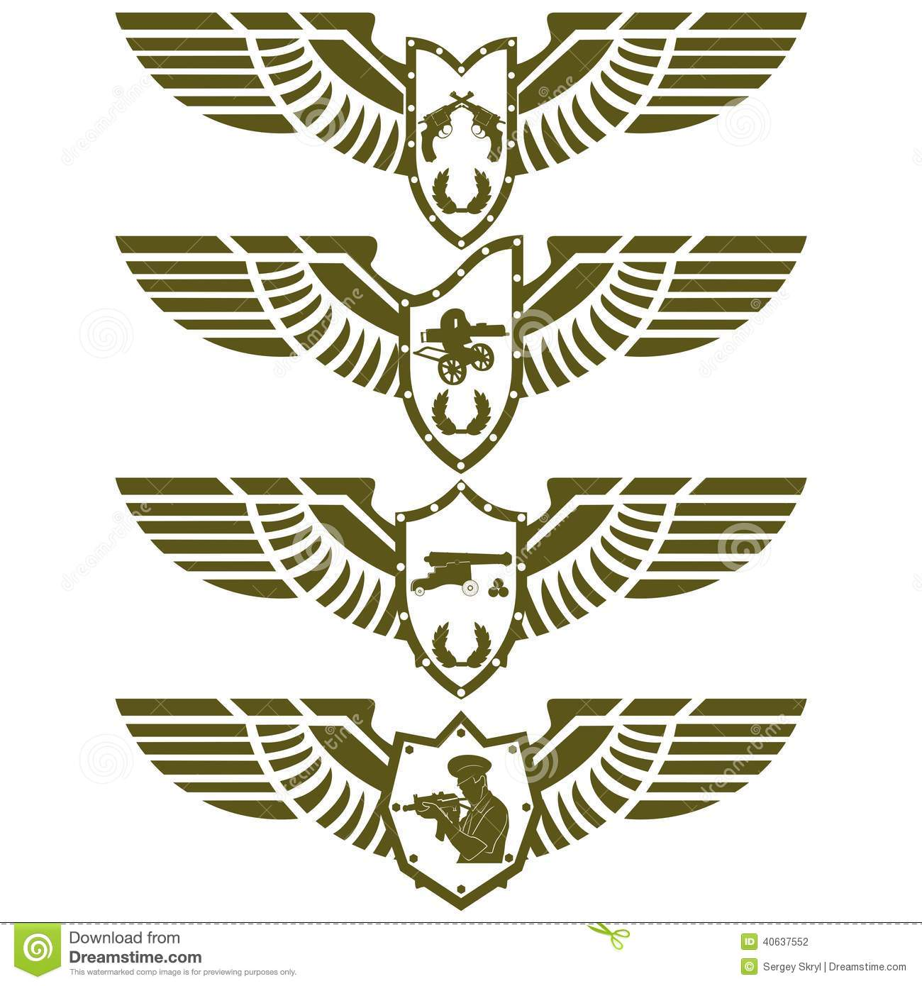 army badges3 stock vector illustration of picture