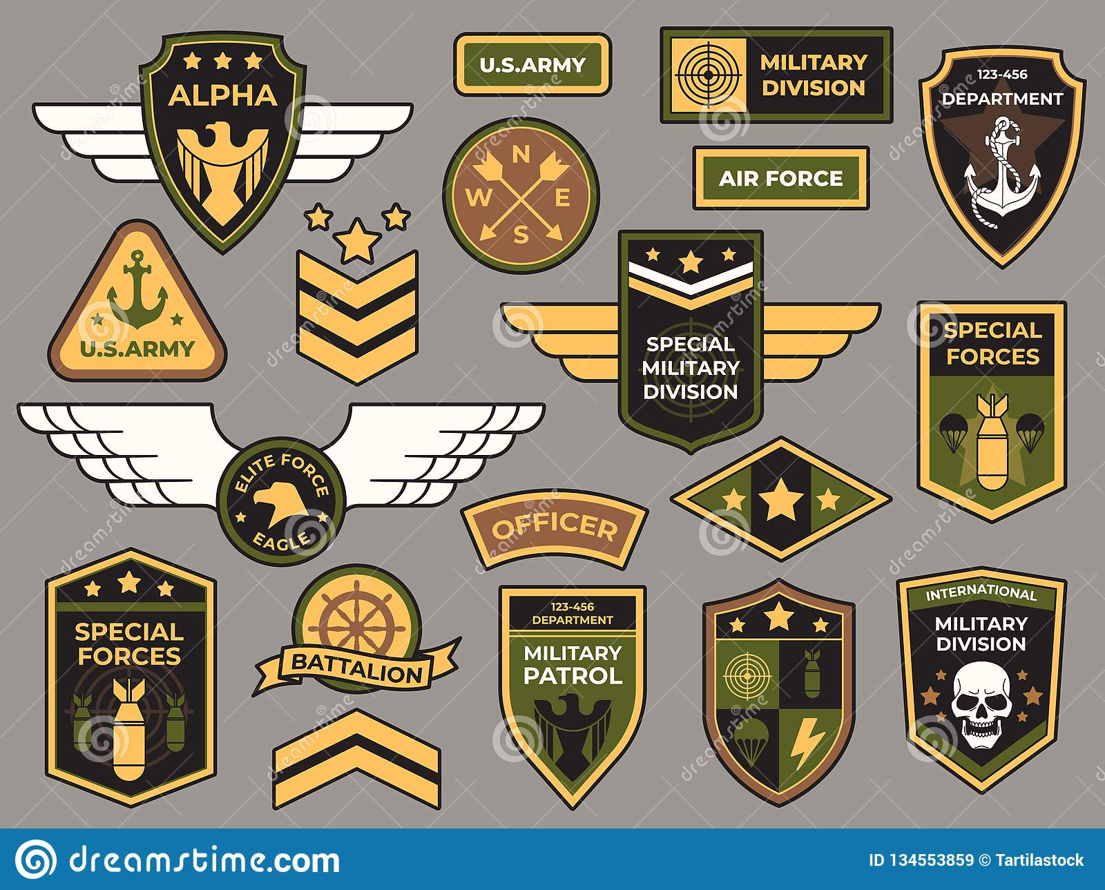 Army Badges Military Patch Air Force Captain Sign And Paratrooper