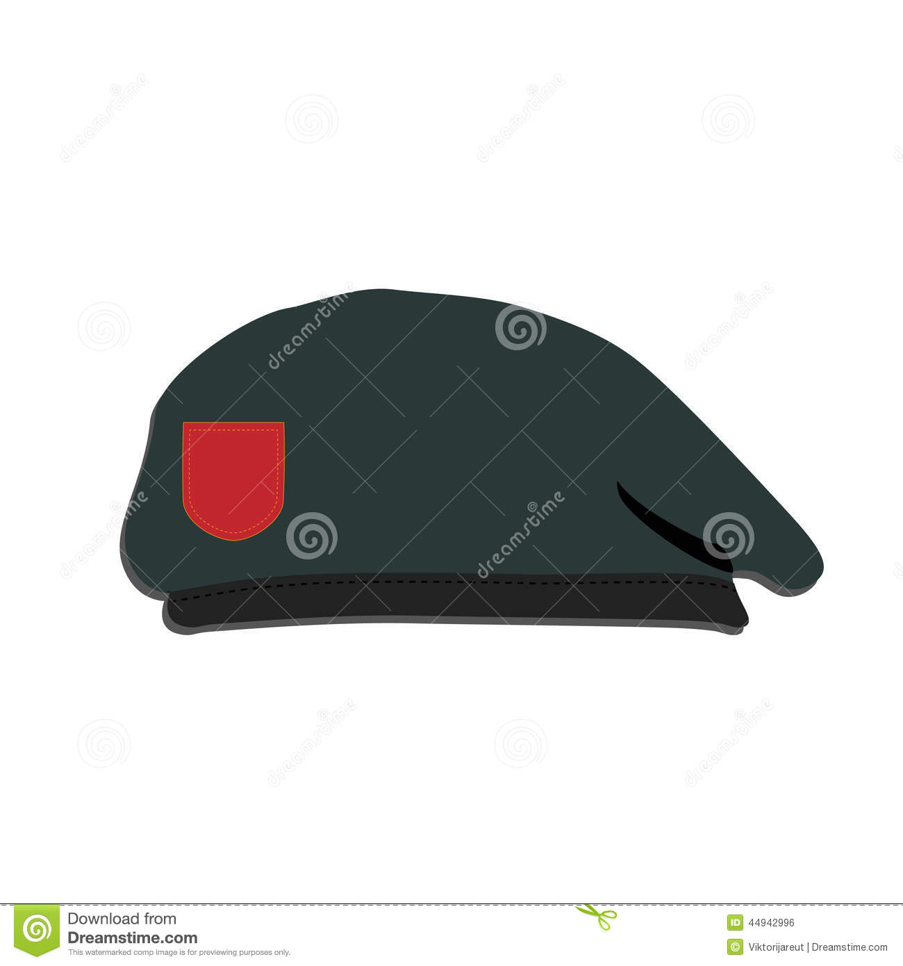 Army Beret Stock Illustration - Image: 44942996
